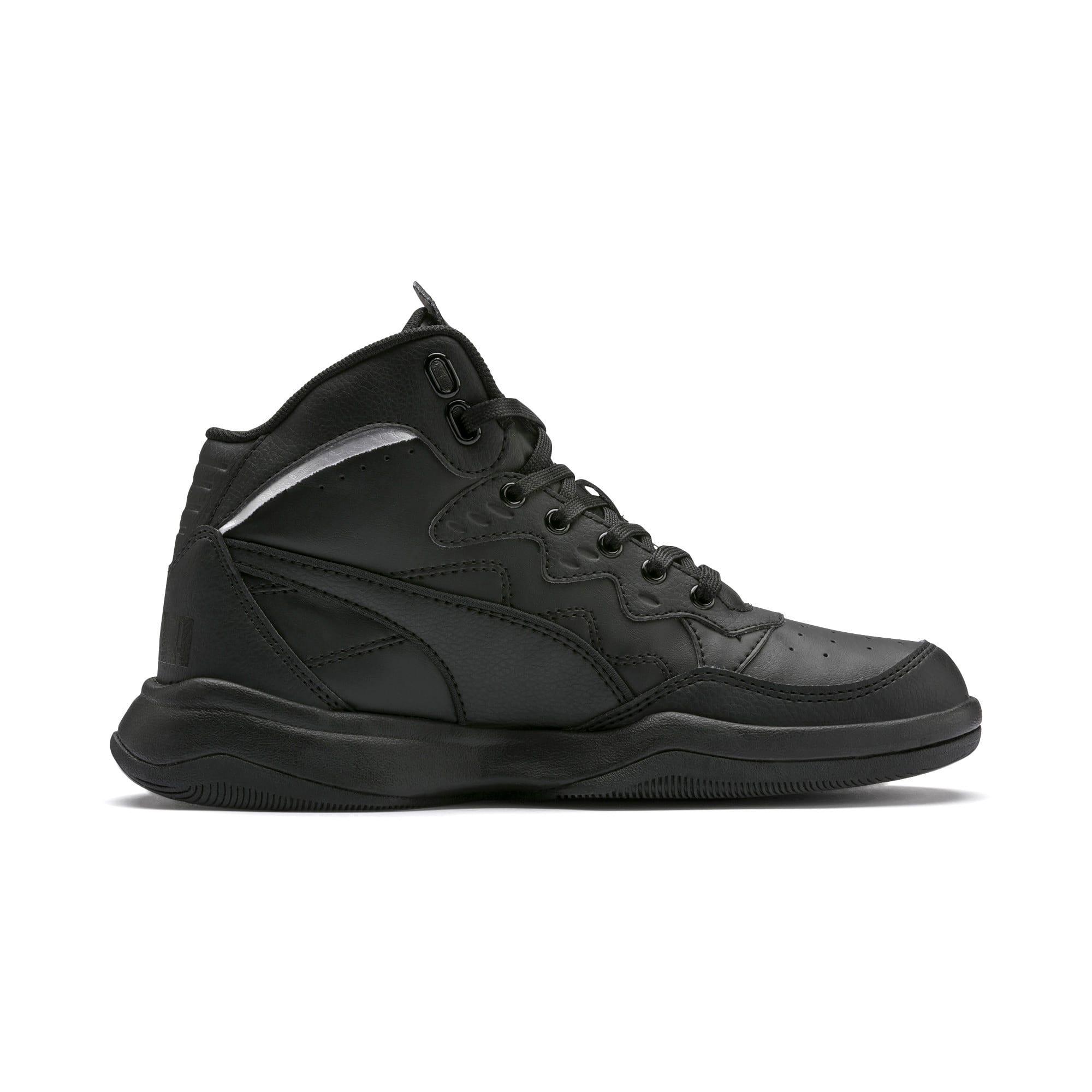 Thumbnail 5 of PUMA Rebound Playoff SL Sneakers JR, Puma Black-Puma Silver, medium