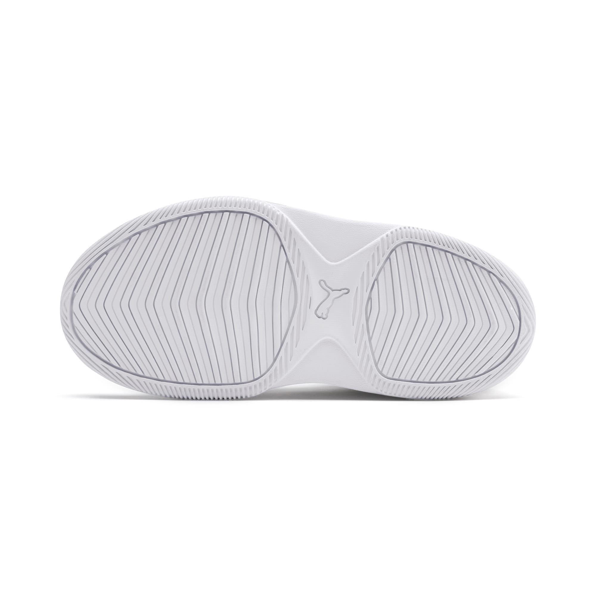 Thumbnail 4 of PUMA Rebound Playoff SL Little Kids' Shoes, Puma White-Puma Silver, medium