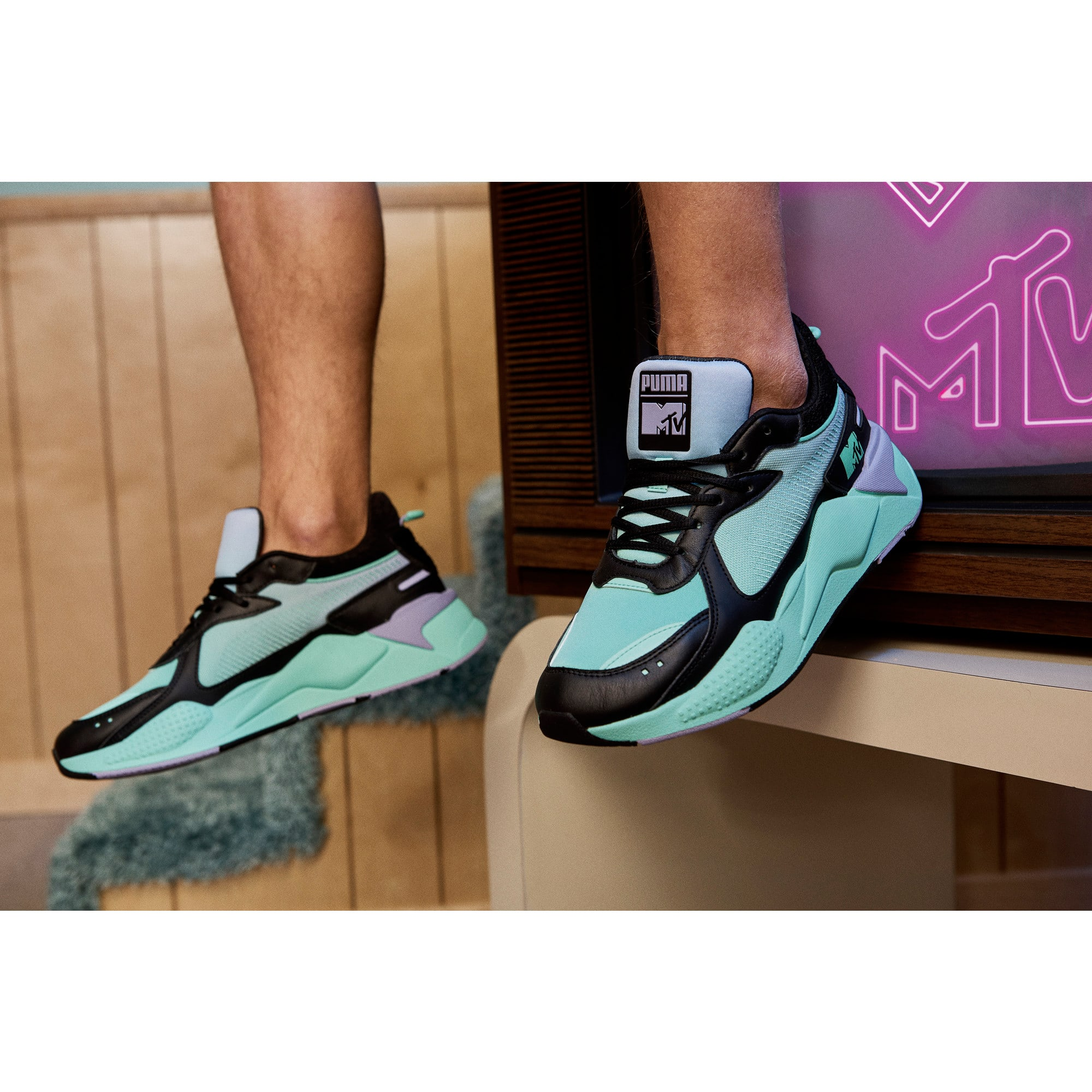 Thumbnail 7 of RS-X Tracks MTV Gradient Gloom Sneakers, Puma Black-Sweet Lavender, medium