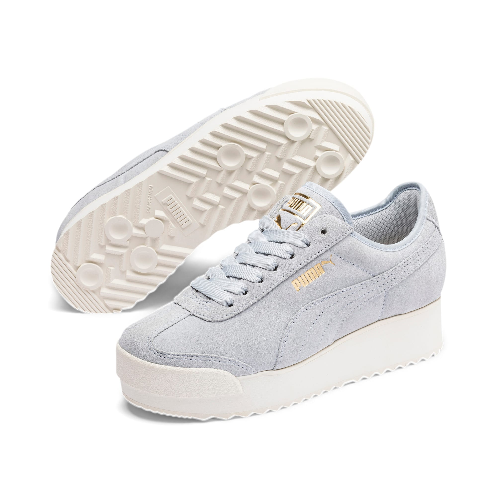 Thumbnail 2 of Roma Amor Suede Women's Sneakers, Heather-Puma Team Gold, medium