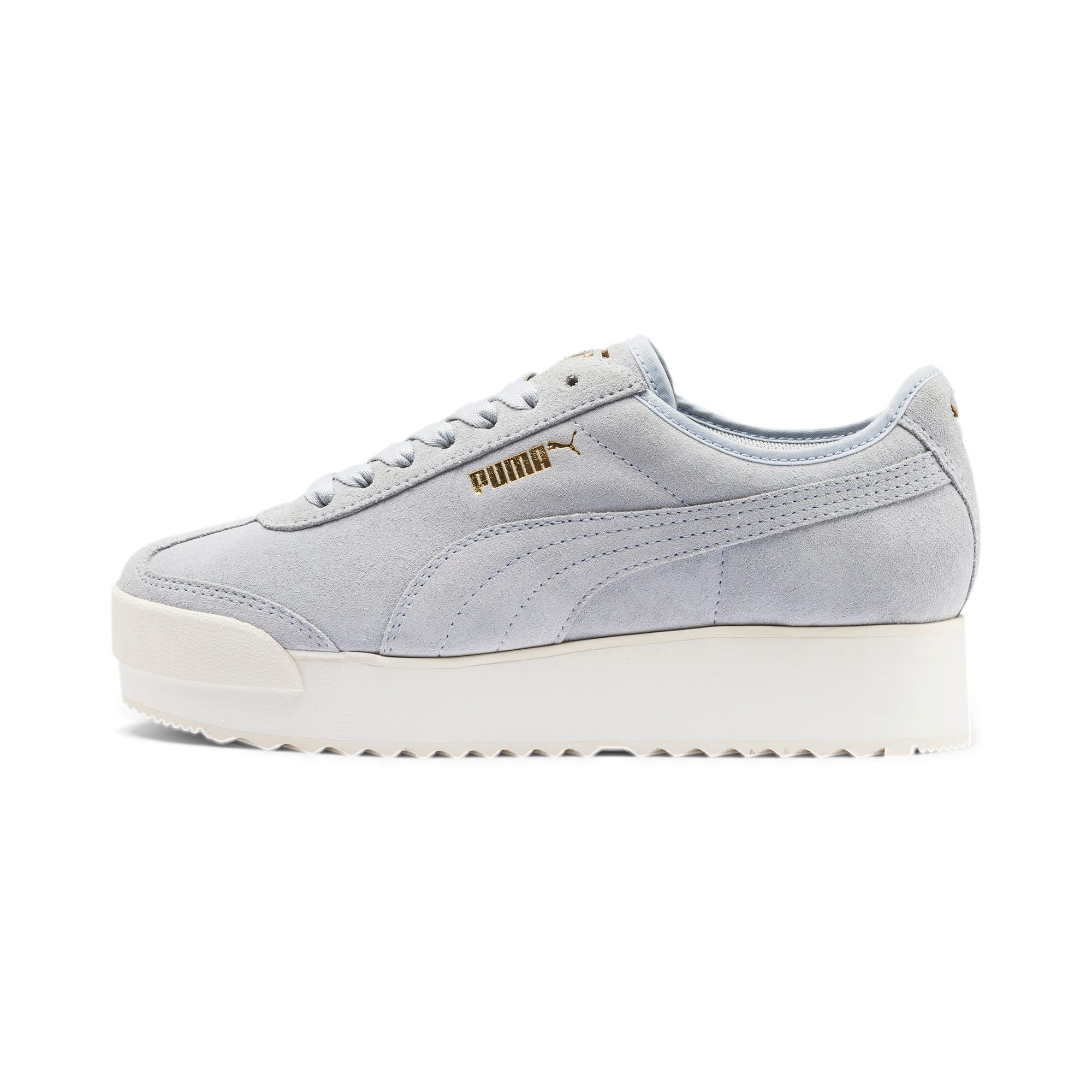 Thumbnail 1 of Roma Amor Suede Women's Sneakers, Heather-Puma Team Gold, medium