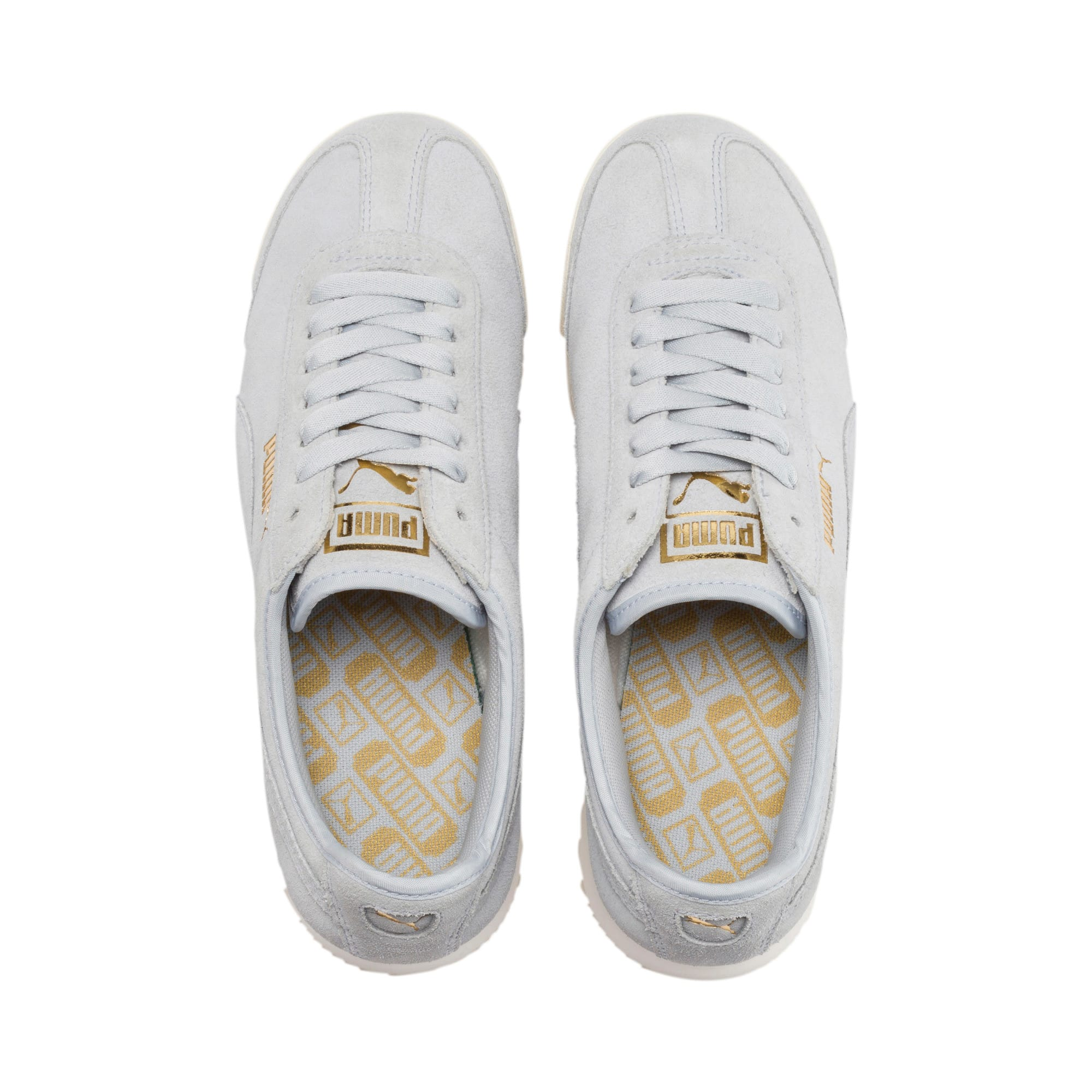 Thumbnail 7 of Roma Amor Suede Women's Sneakers, Heather-Puma Team Gold, medium