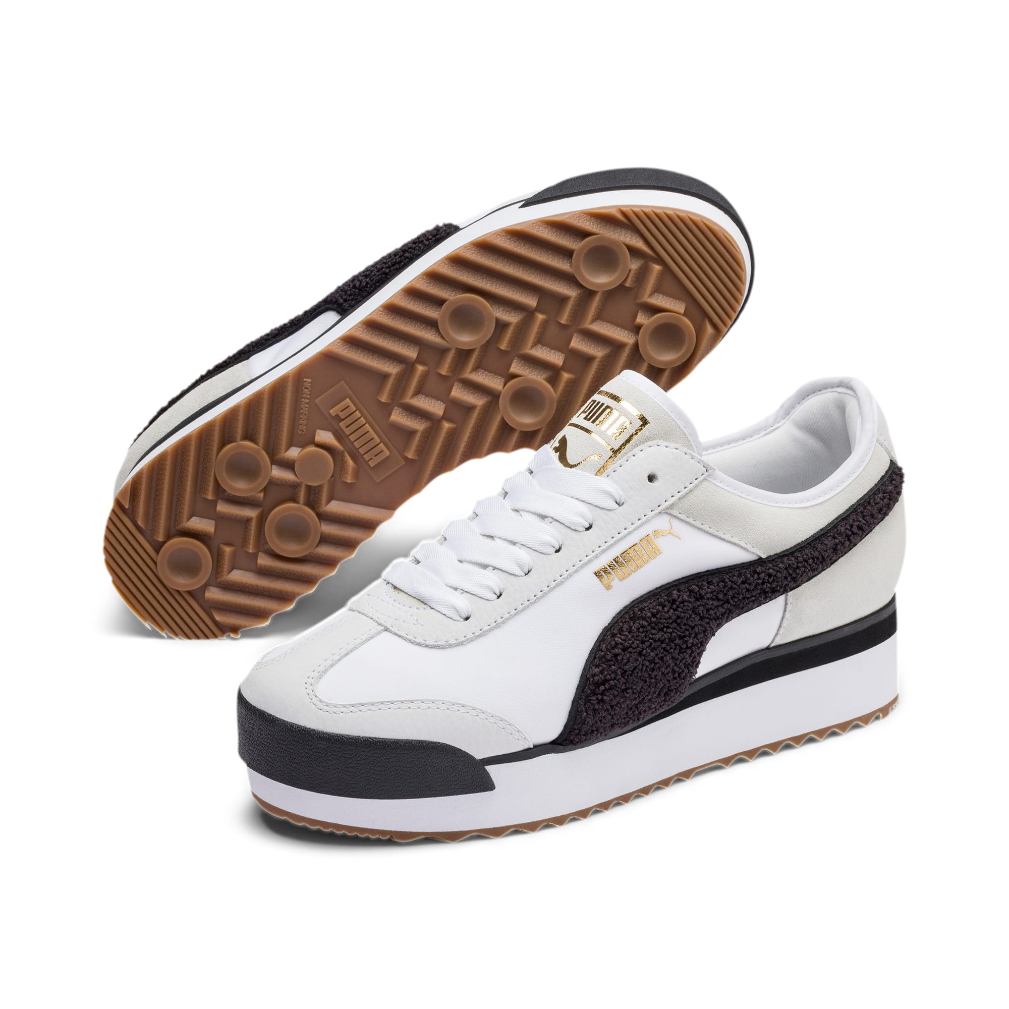 Thumbnail 3 of Roma Amor Heritage Women's Sneakers, Puma White-Puma Black, medium