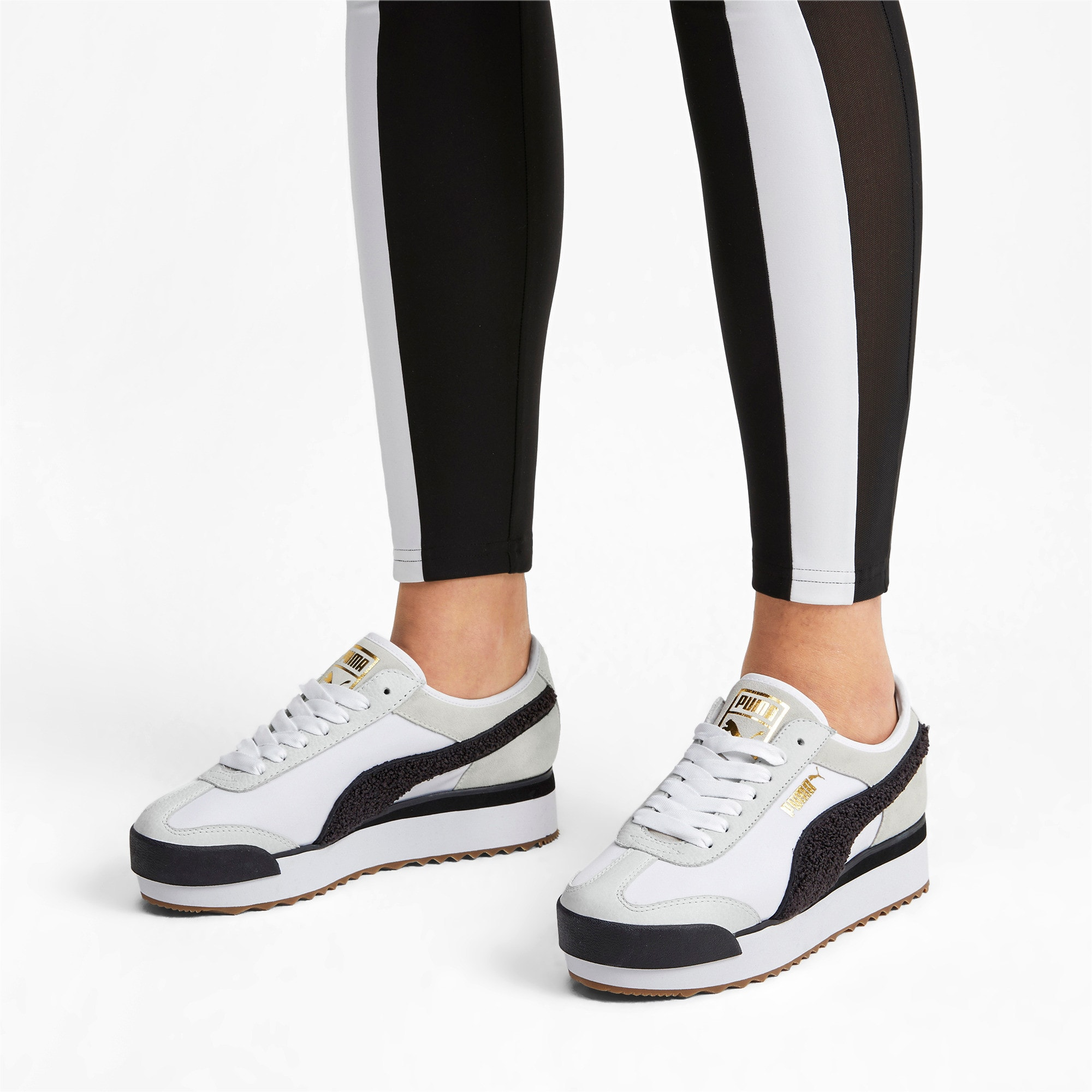 Thumbnail 2 of Roma Amor Heritage Women's Sneakers, Puma White-Puma Black, medium