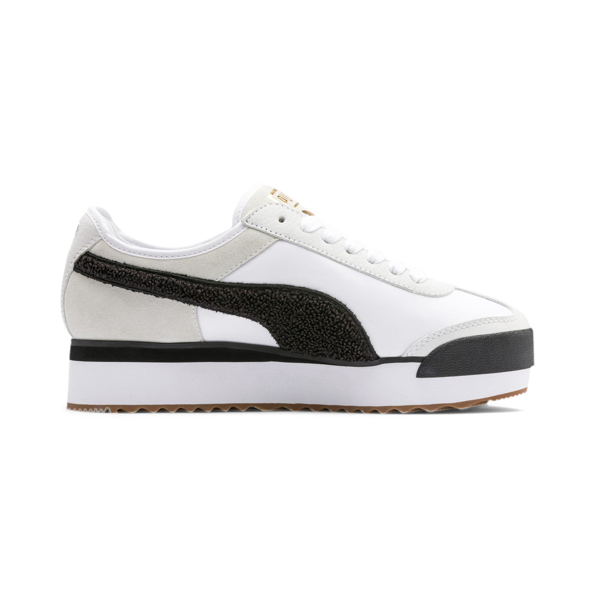 Thumbnail 7 of Roma Amor Heritage Women's Sneakers, Puma White-Puma Black, medium