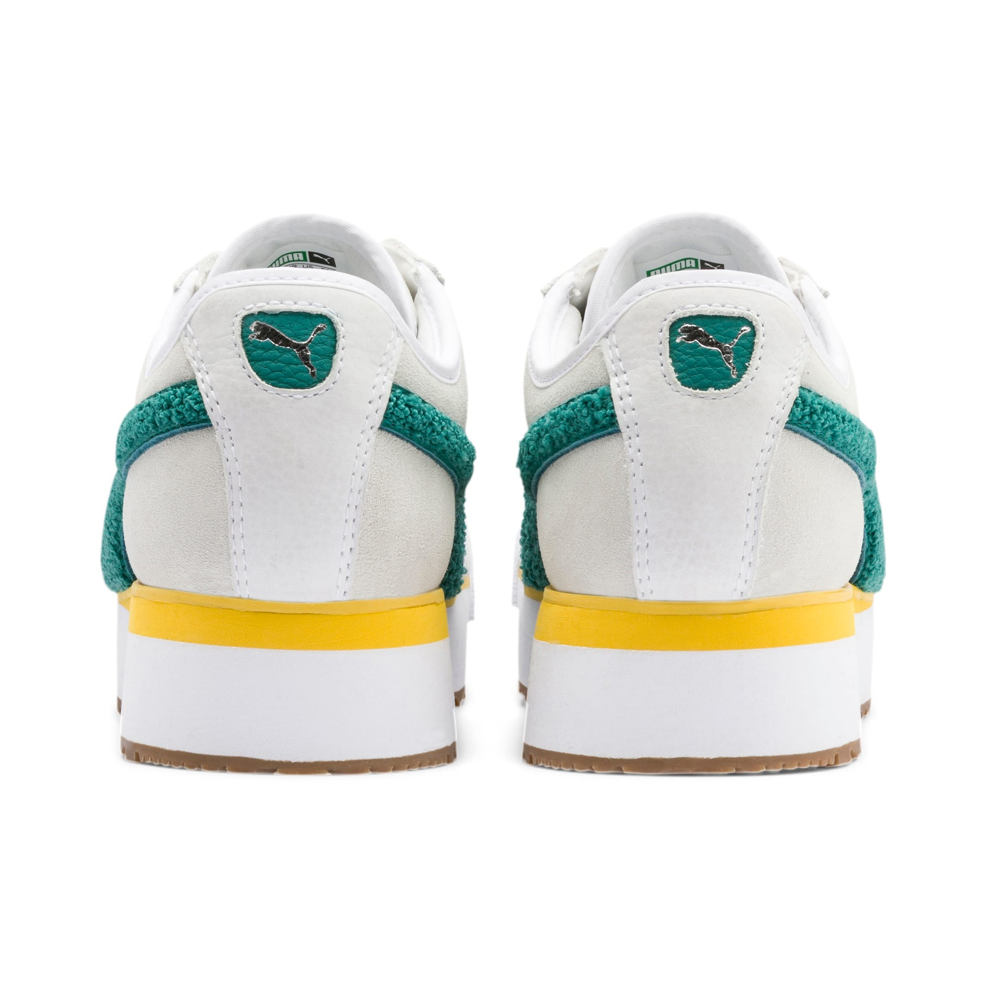 Thumbnail 4 of Roma Amor Heritage Women's Sneakers, Puma White-Teal Green, medium
