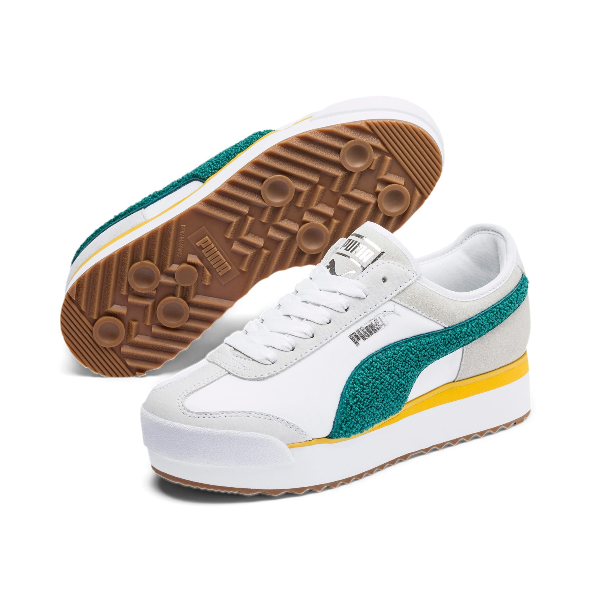 Thumbnail 3 of Roma Amor Heritage Women's Sneakers, Puma White-Teal Green, medium