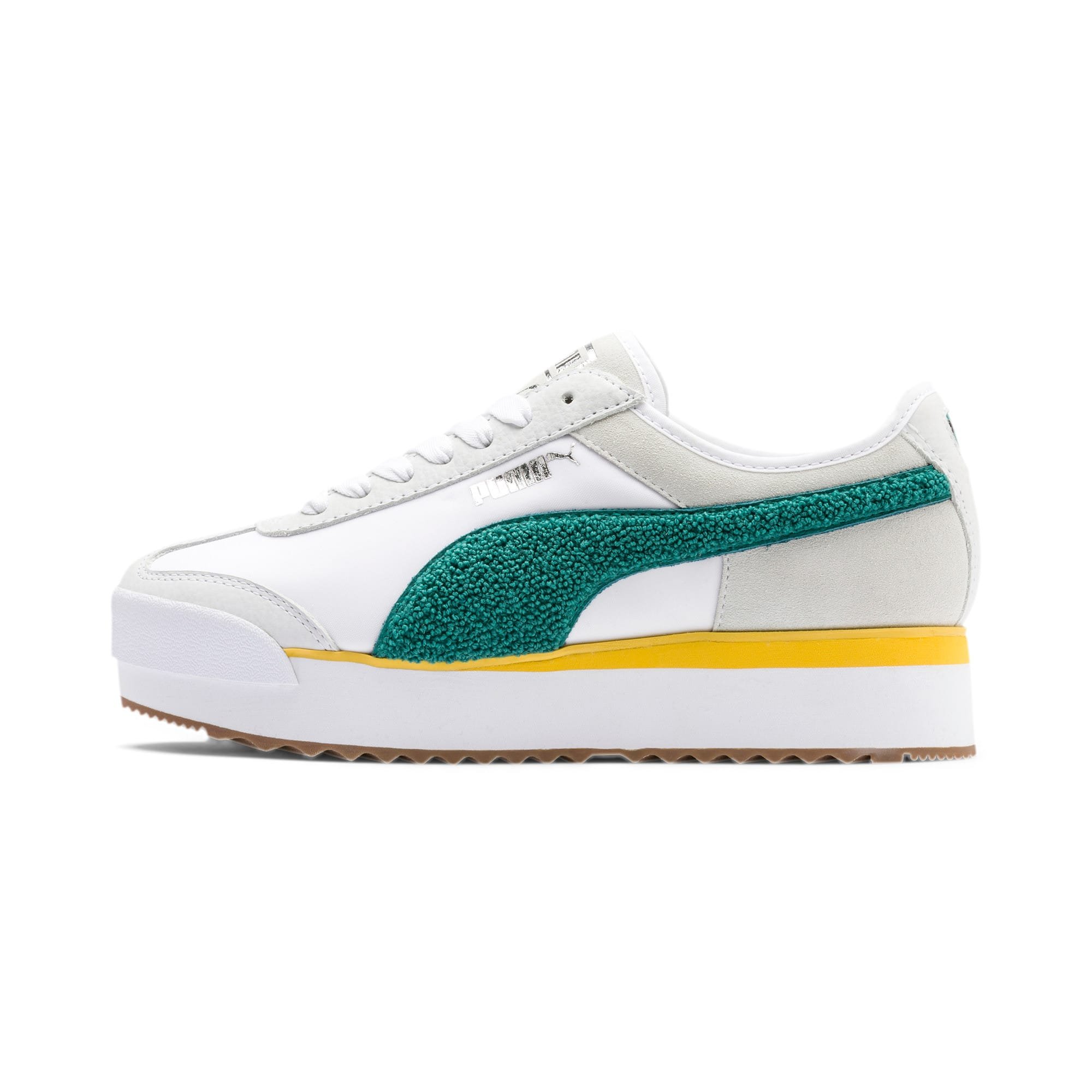 Thumbnail 1 of Roma Amor Heritage Women's Sneakers, Puma White-Teal Green, medium