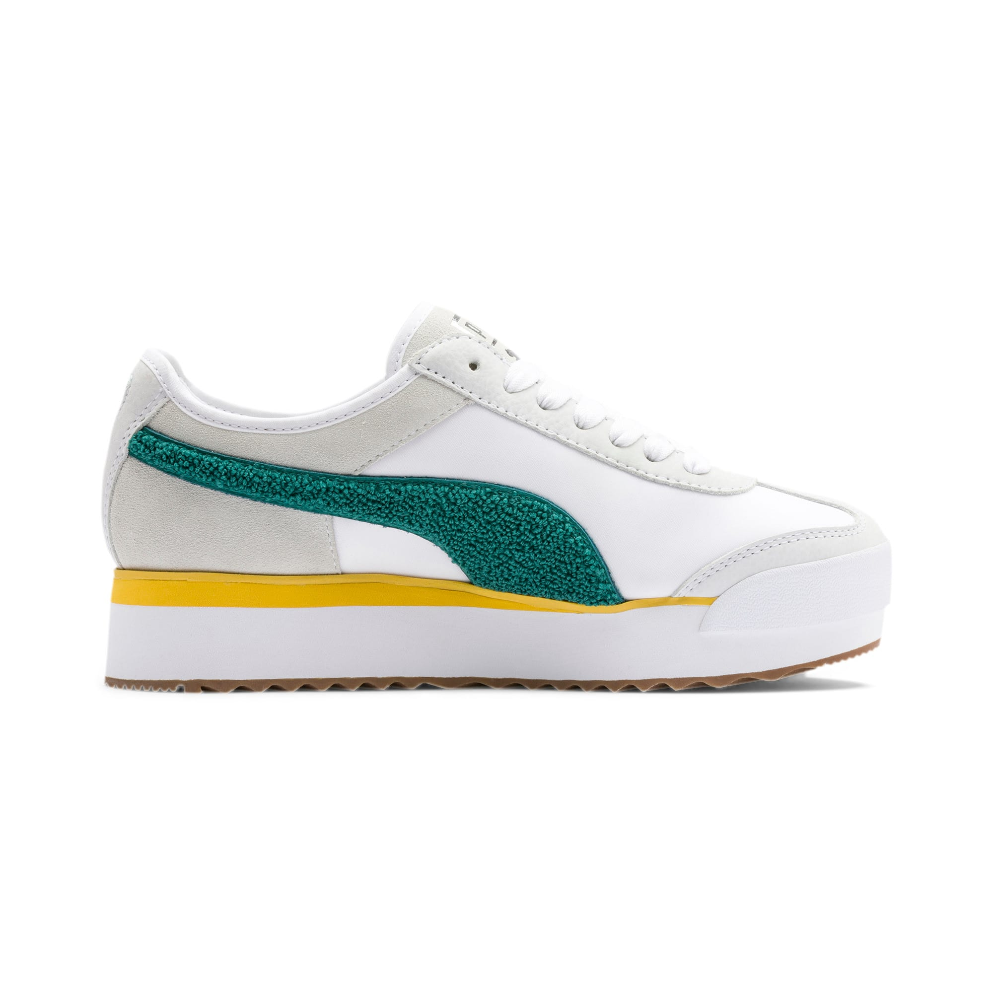 Thumbnail 7 of Roma Amor Heritage Women's Sneakers, Puma White-Teal Green, medium