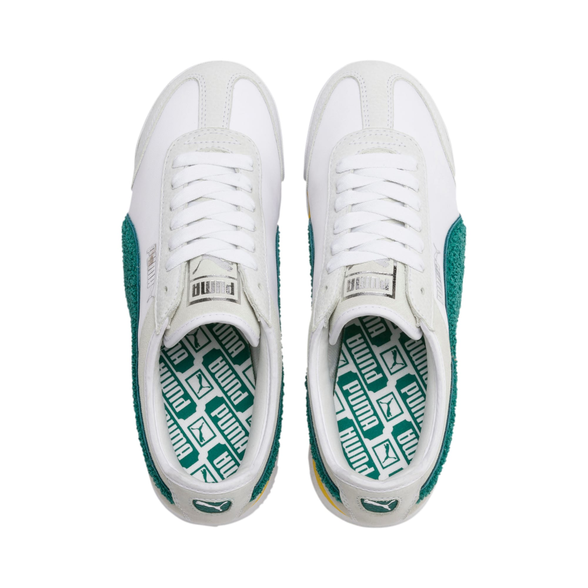 Thumbnail 8 of Roma Amor Heritage Women's Sneakers, Puma White-Teal Green, medium
