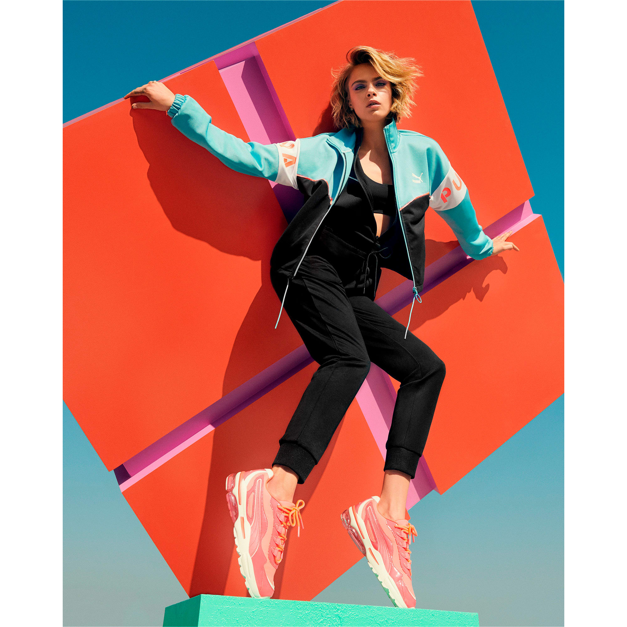 Thumbnail 8 of CELL Stellar Neon Women's Sneakers, Pink Alert-Heather, medium