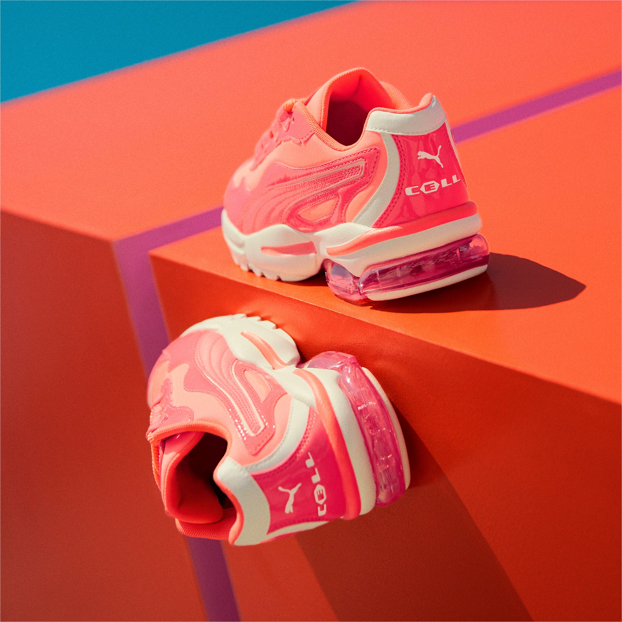 Thumbnail 9 of CELL Stellar Neon Women's Sneakers, Pink Alert-Heather, medium