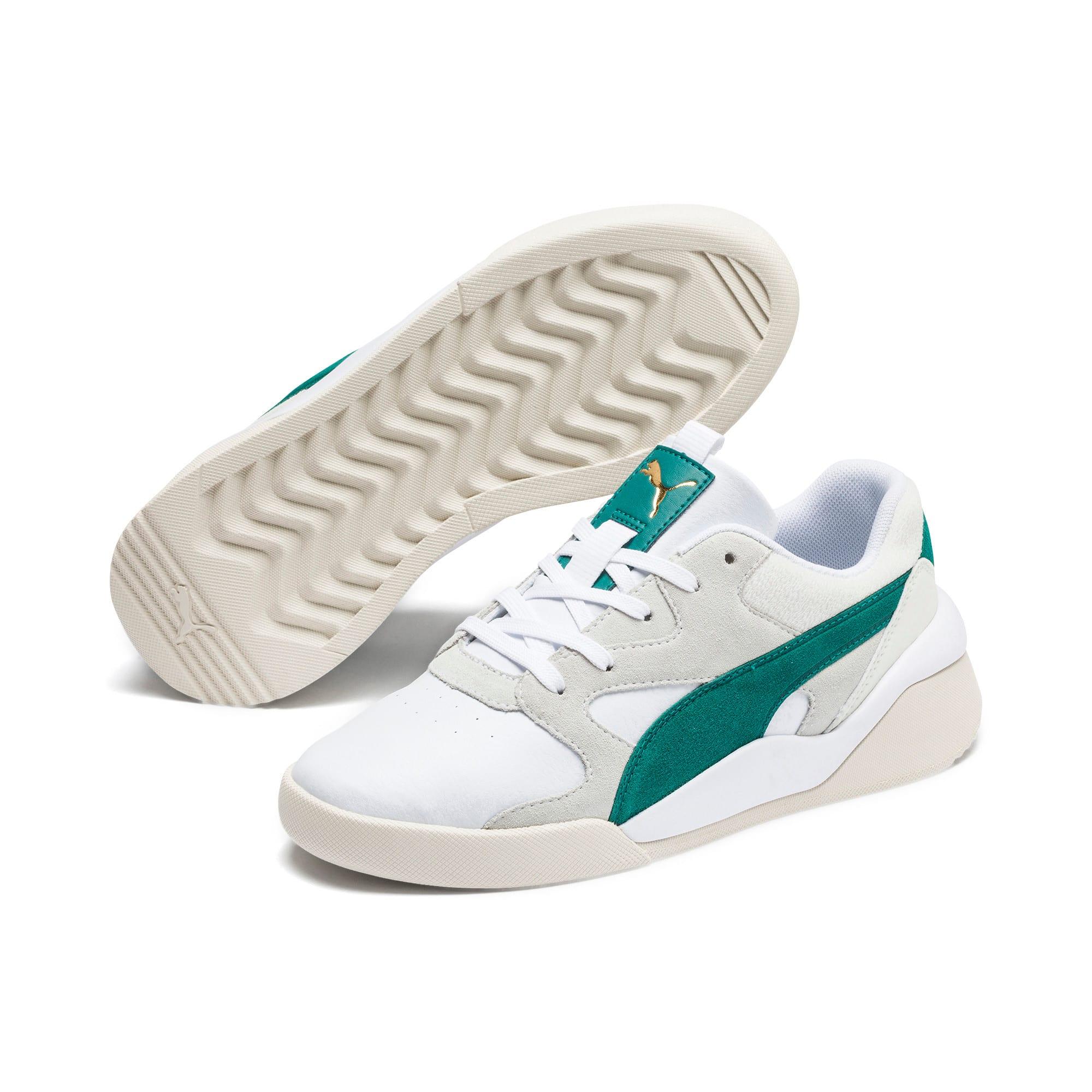 Thumbnail 3 of Aeon Heritage Women's Sneakers, Puma White-Teal Green, medium