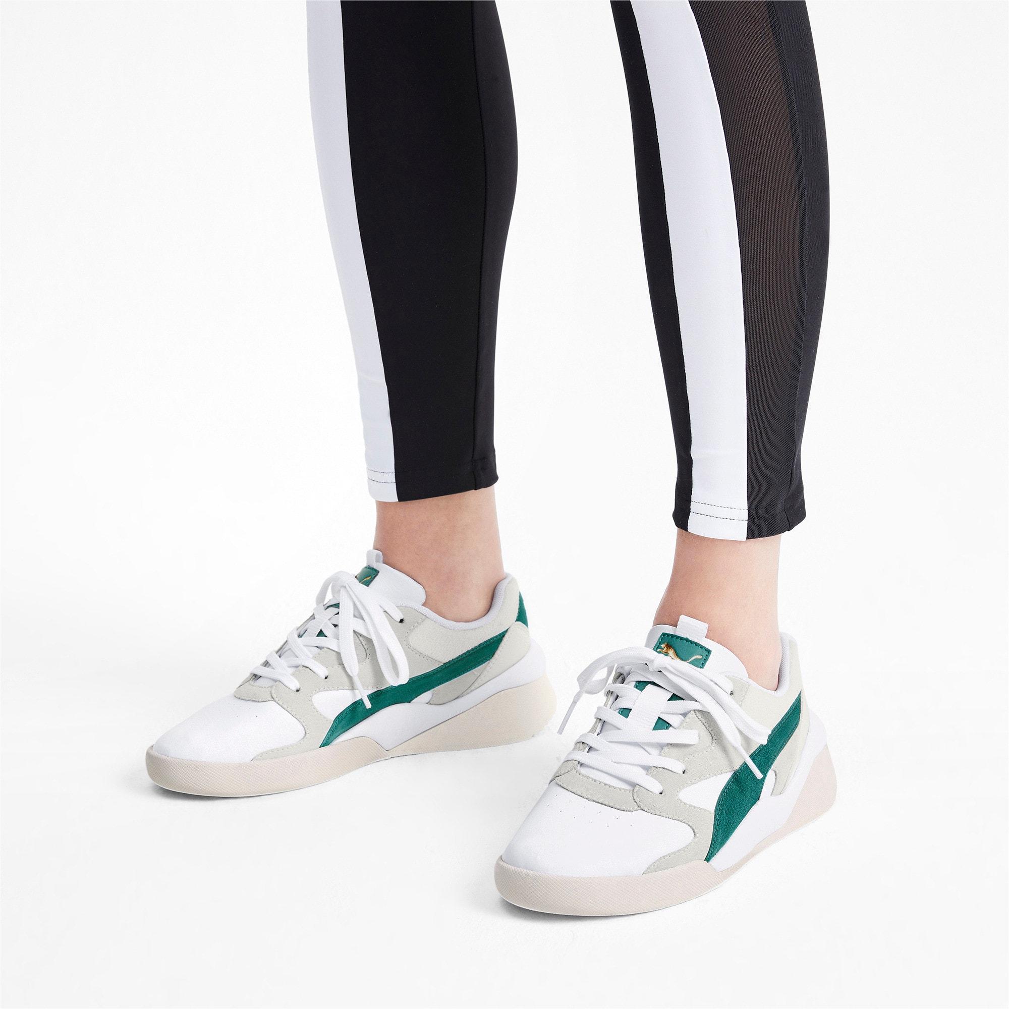 Thumbnail 2 of Aeon Heritage Women's Sneakers, Puma White-Teal Green, medium