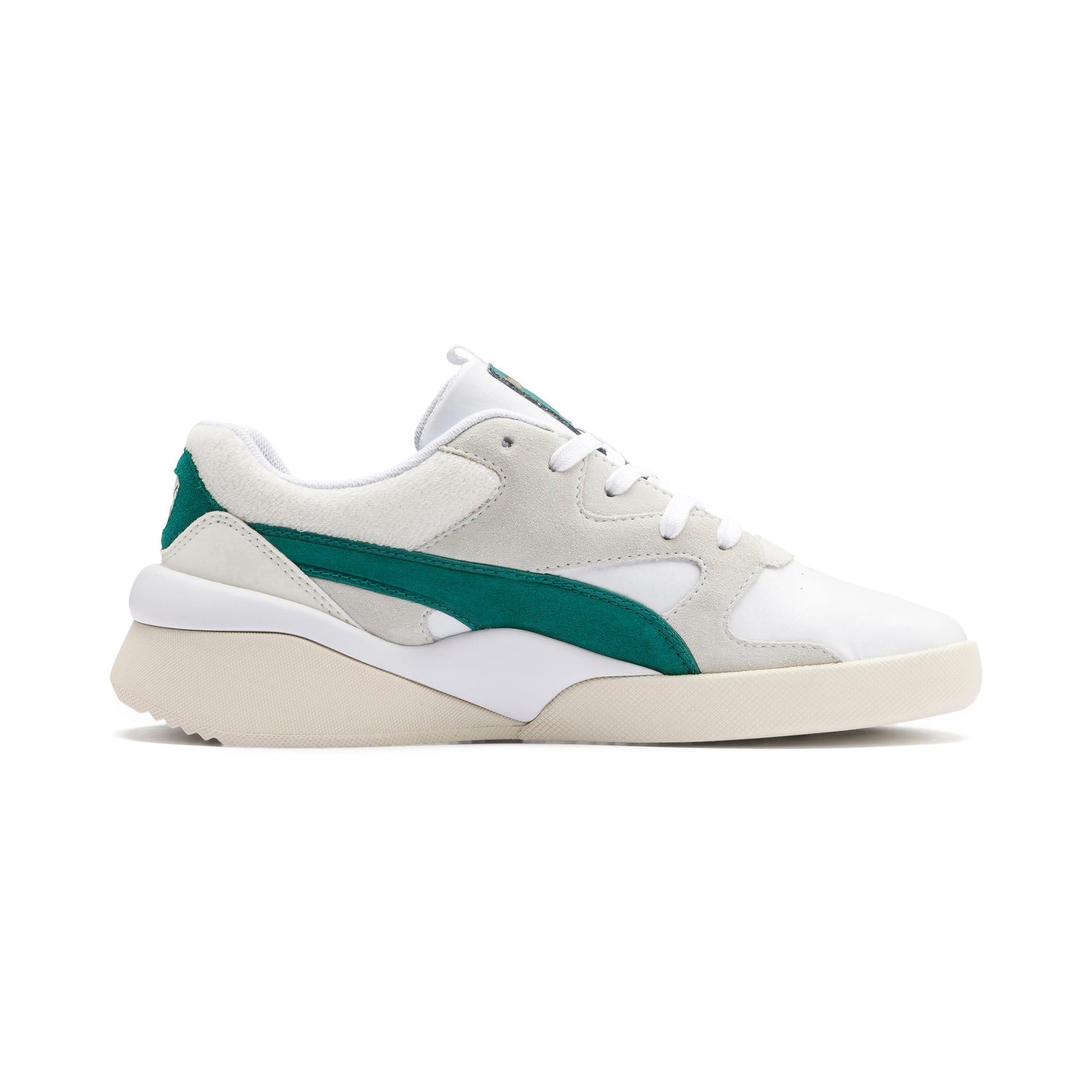 Thumbnail 6 of Aeon Heritage Women's Sneakers, Puma White-Teal Green, medium