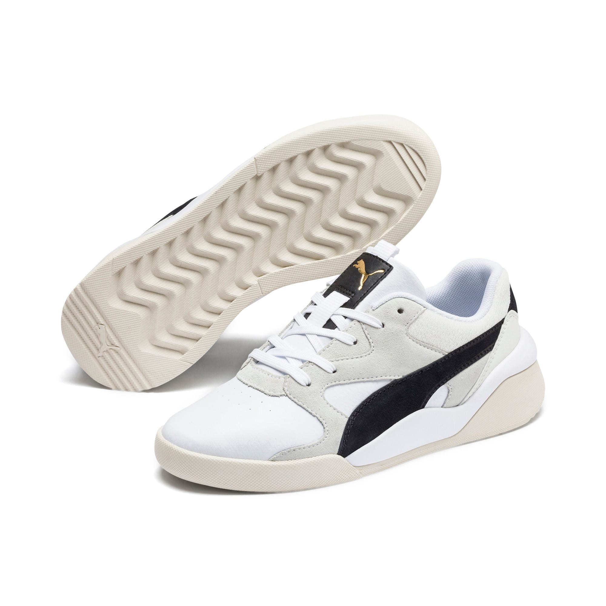 Thumbnail 3 of Aeon Heritage Women's Sneakers, Puma White-Puma Black, medium