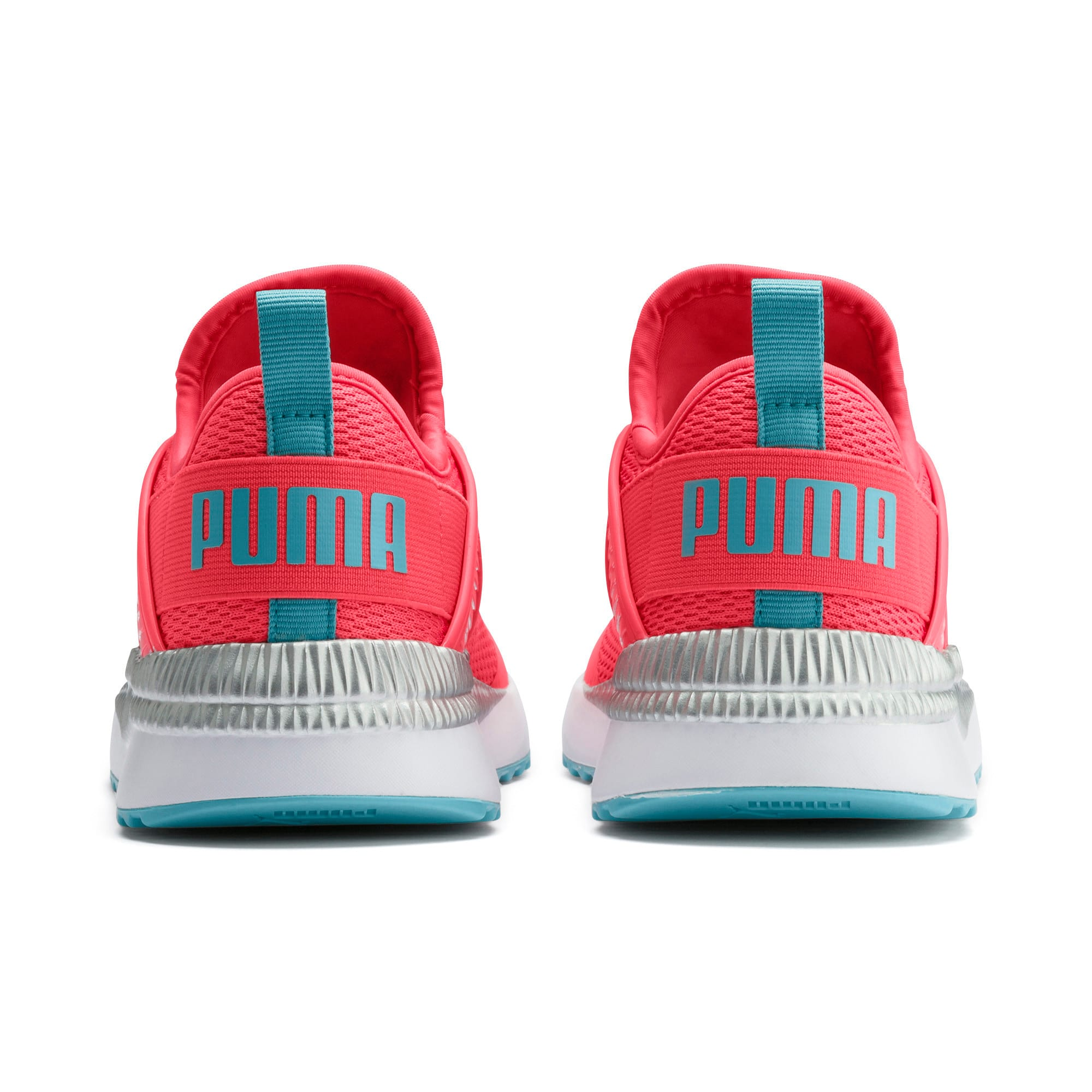Thumbnail 3 of Pacer Next Cage Metallic Sneakers JR, Calypso Coral-Milky Blue, medium