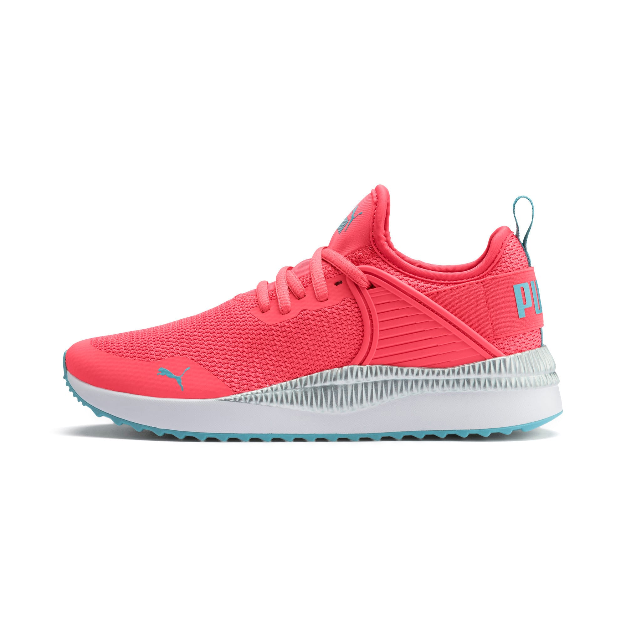 Thumbnail 1 of Pacer Next Cage Metallic Sneakers JR, Calypso Coral-Milky Blue, medium