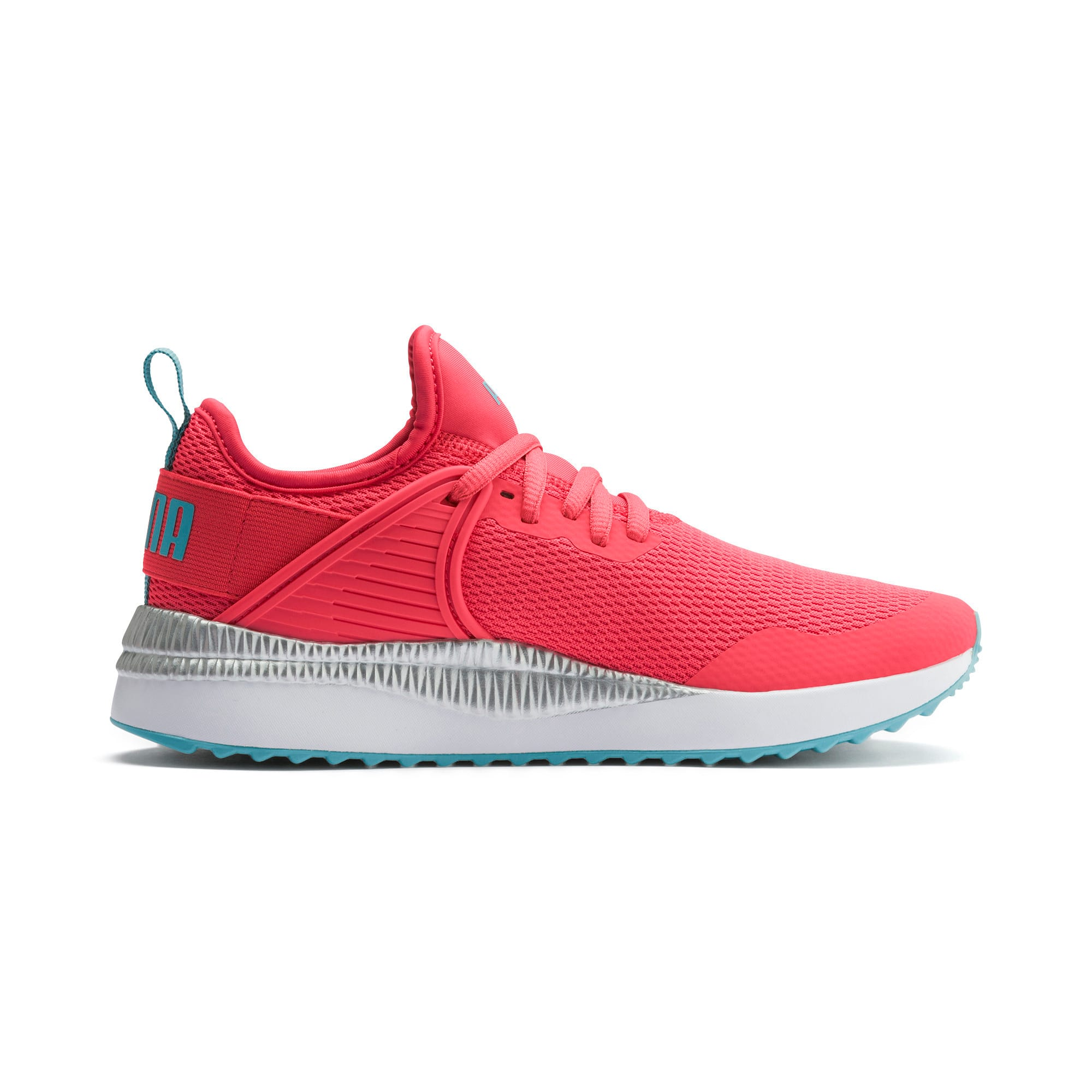 Thumbnail 5 of Pacer Next Cage Metallic Sneakers JR, Calypso Coral-Milky Blue, medium