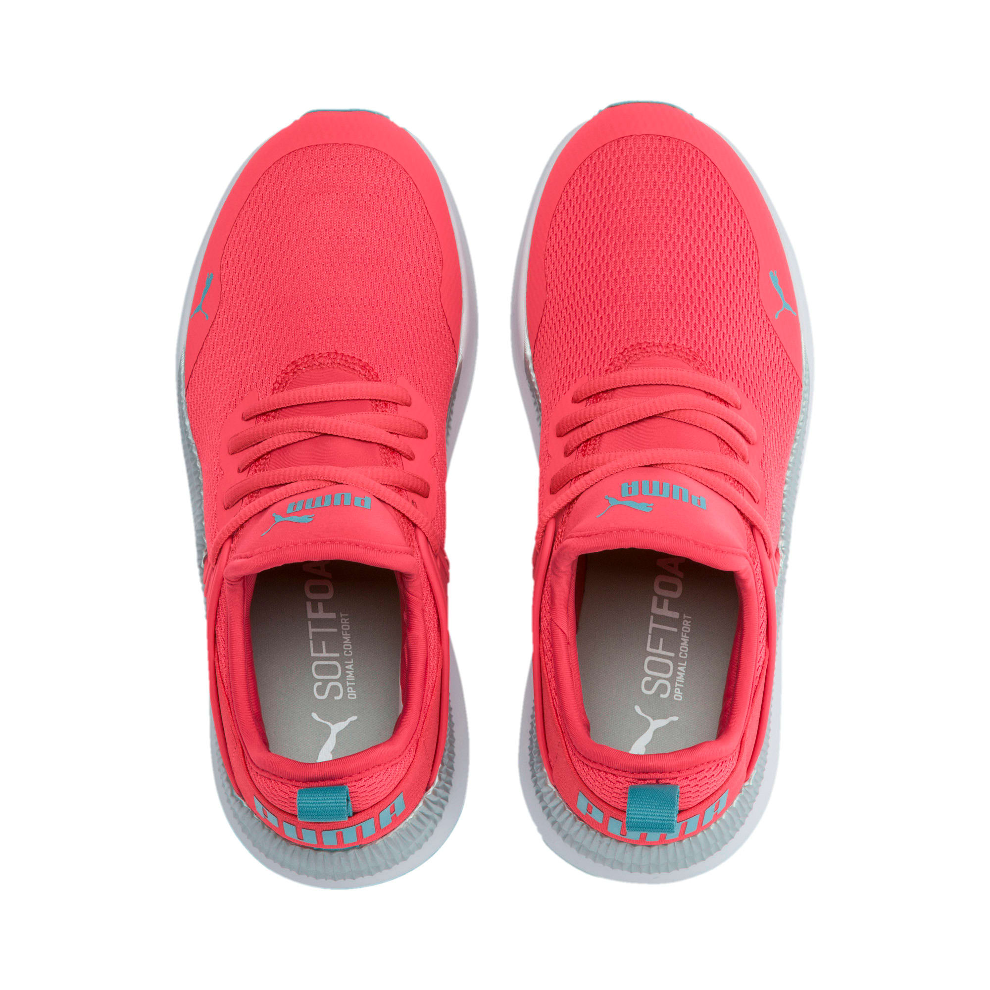 Thumbnail 6 of Pacer Next Cage Metallic Sneakers JR, Calypso Coral-Milky Blue, medium