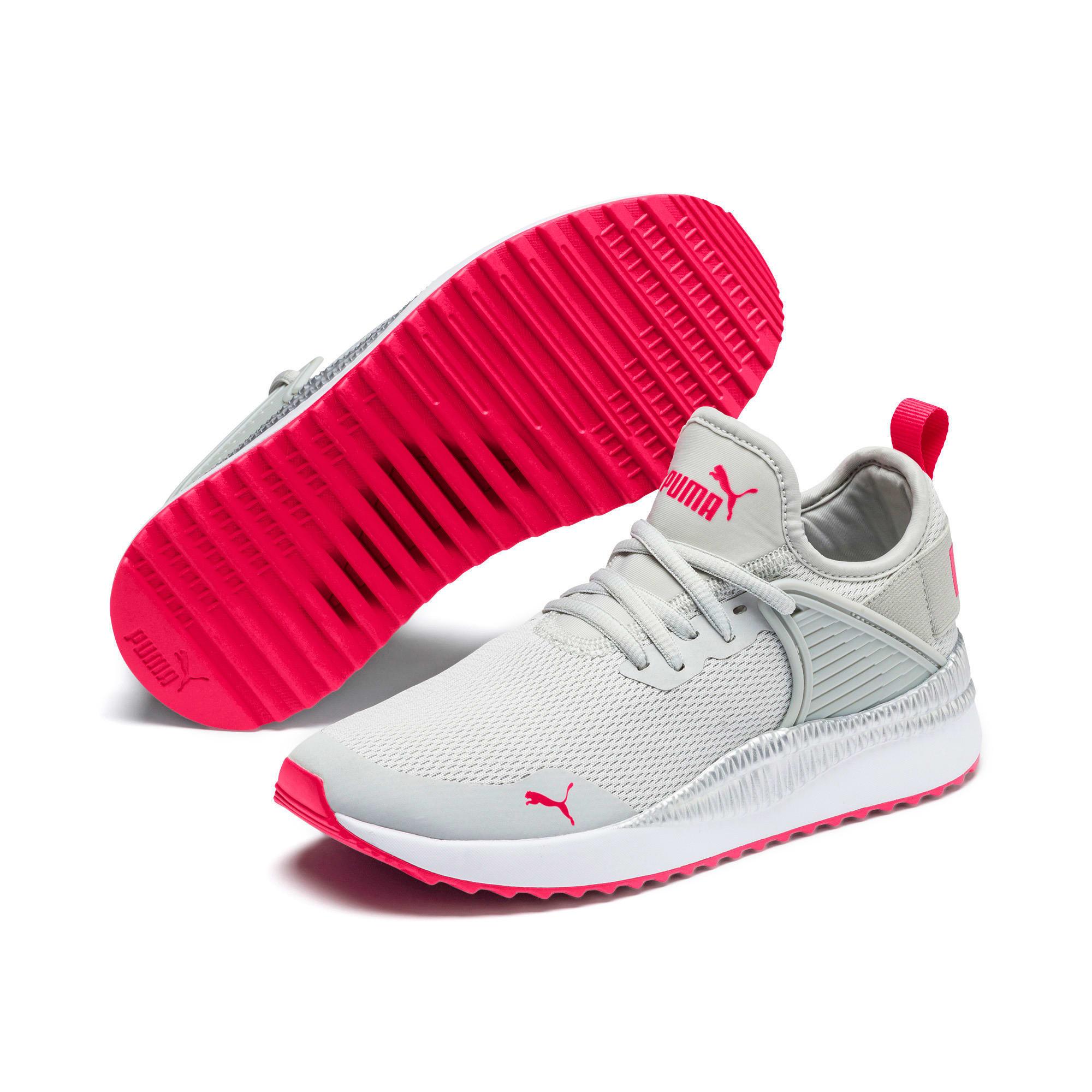 Thumbnail 2 of Pacer Next Cage Metallic Sneakers JR, Gray Violet-Nrgy Rose, medium
