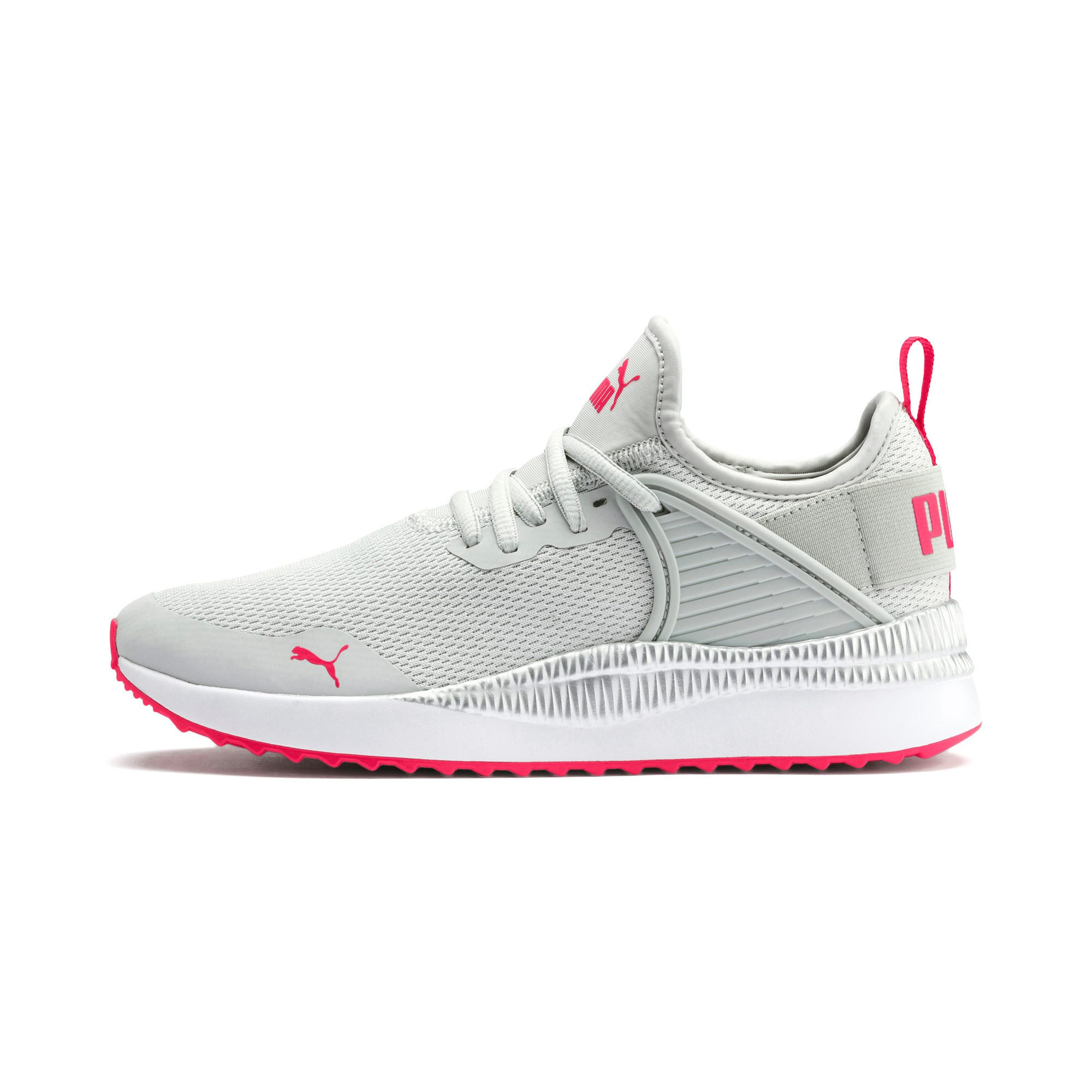 Thumbnail 1 of Pacer Next Cage Metallic Sneakers JR, Gray Violet-Nrgy Rose, medium