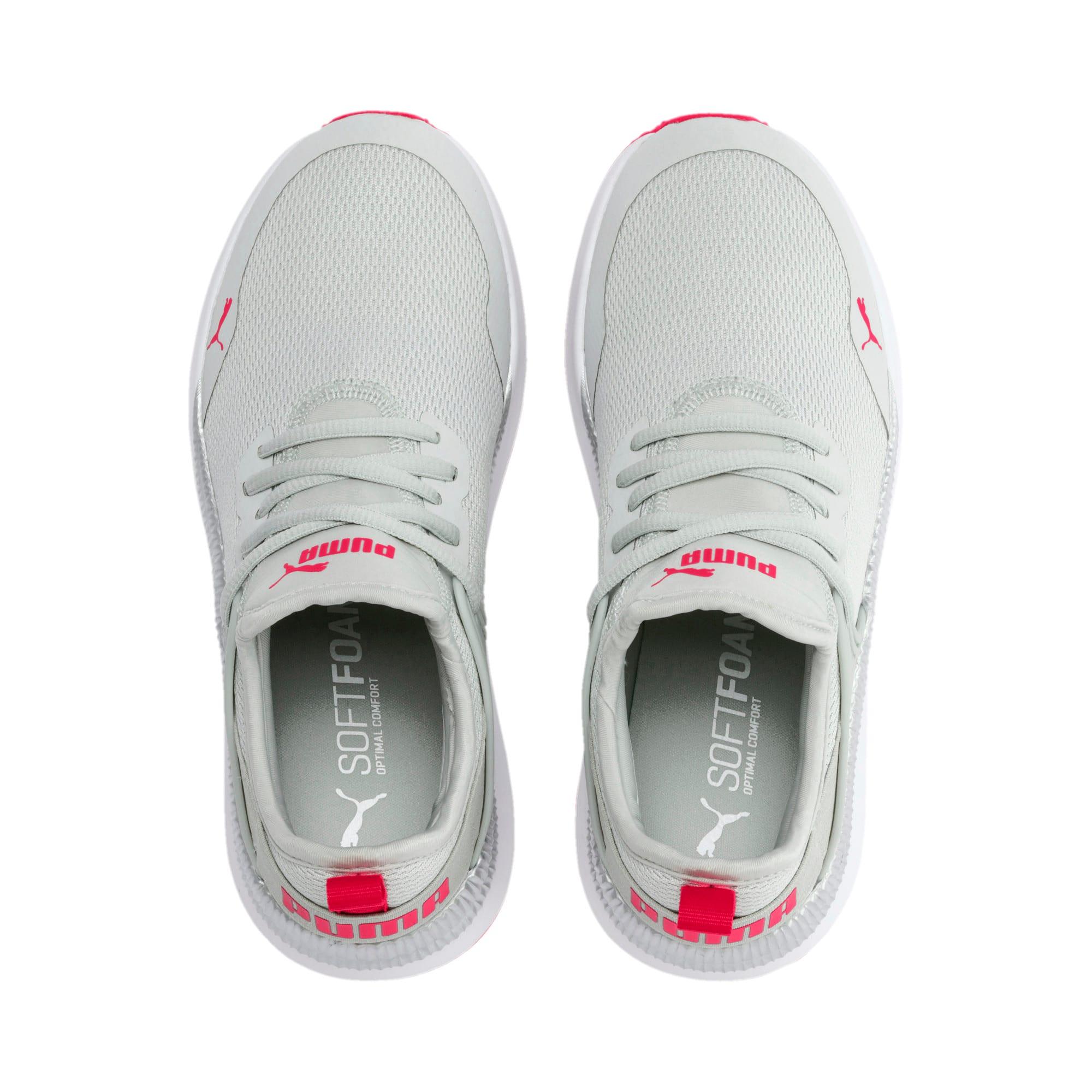 Thumbnail 6 of Pacer Next Cage Metallic Sneakers JR, Gray Violet-Nrgy Rose, medium