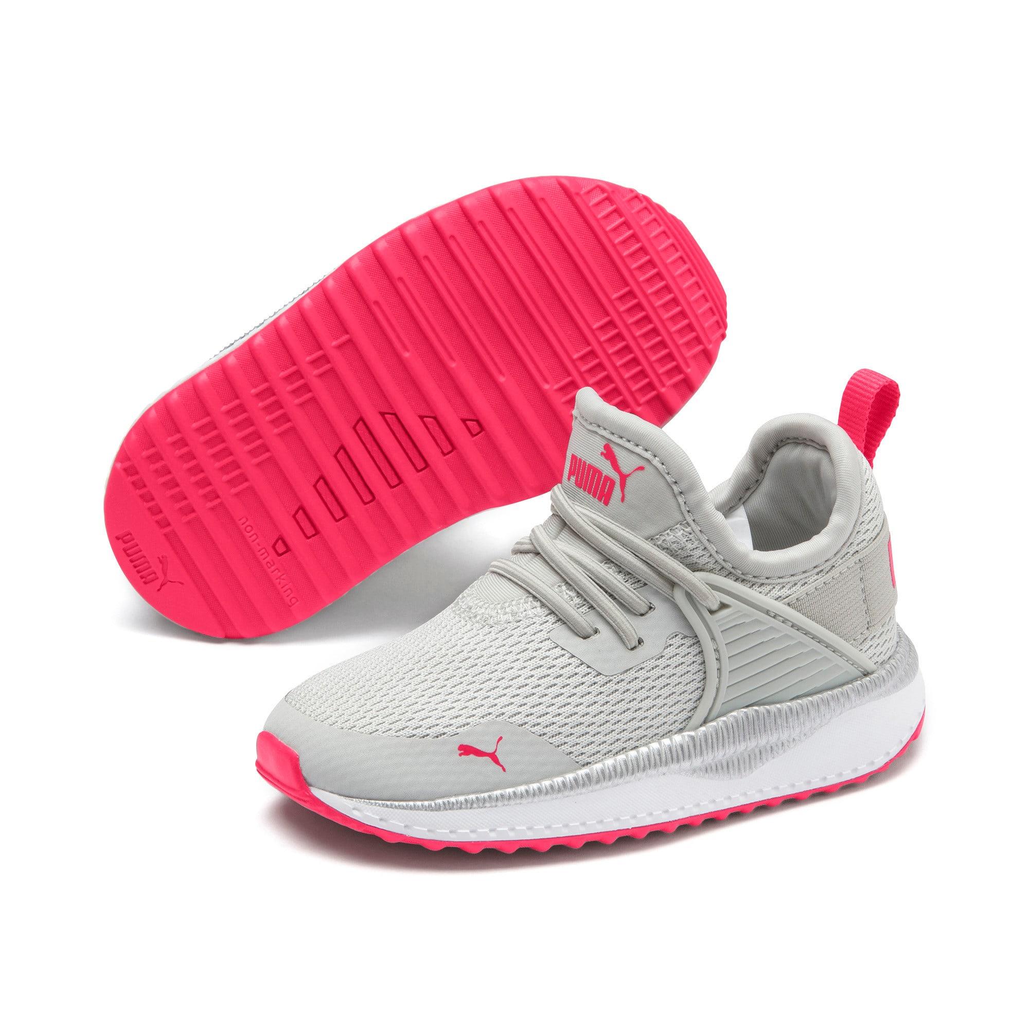 Thumbnail 2 of Pacer Next Cage Metallic Toddler Shoes, Gray Violet-Nrgy Rose, medium