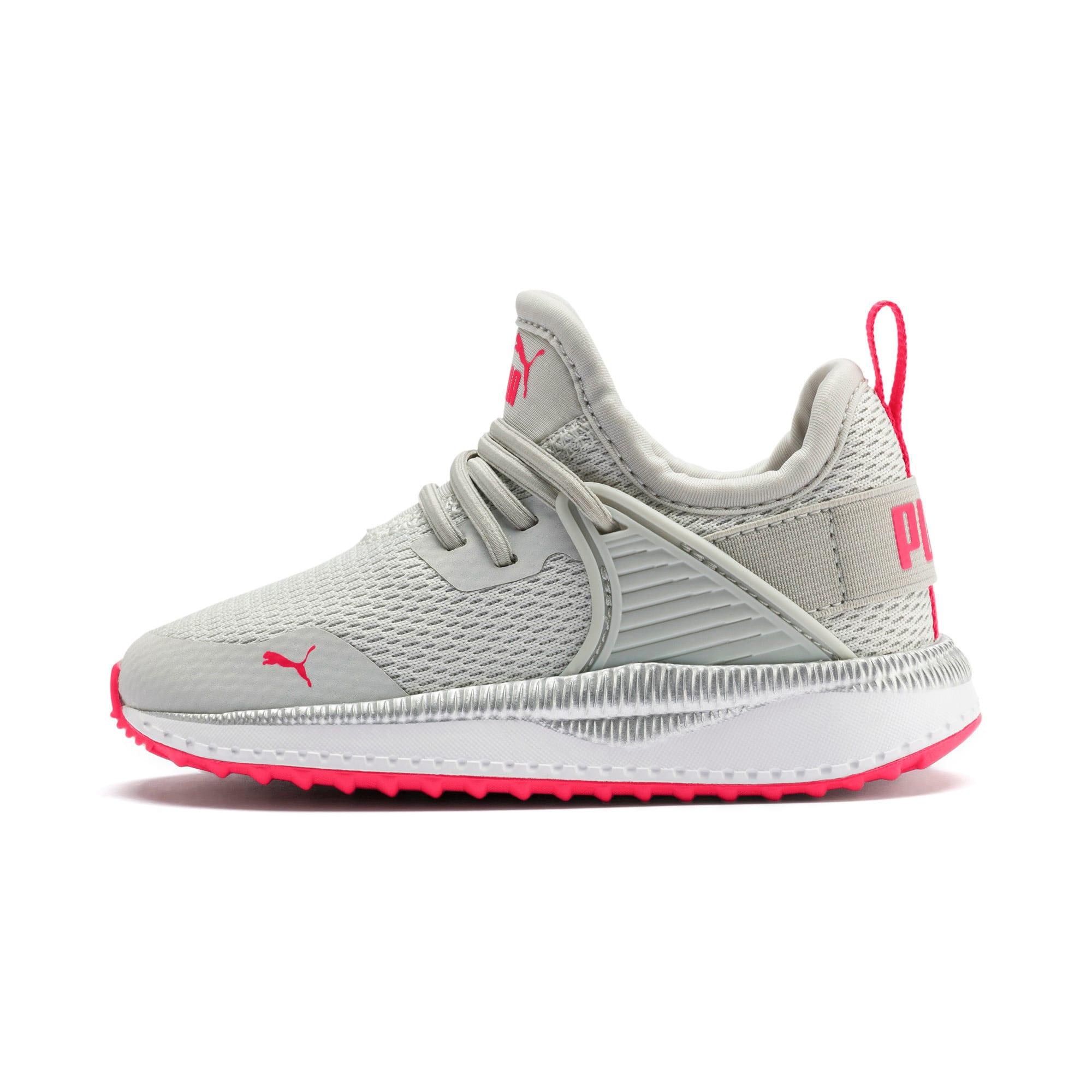 Thumbnail 1 of Pacer Next Cage Metallic Toddler Shoes, Gray Violet-Nrgy Rose, medium