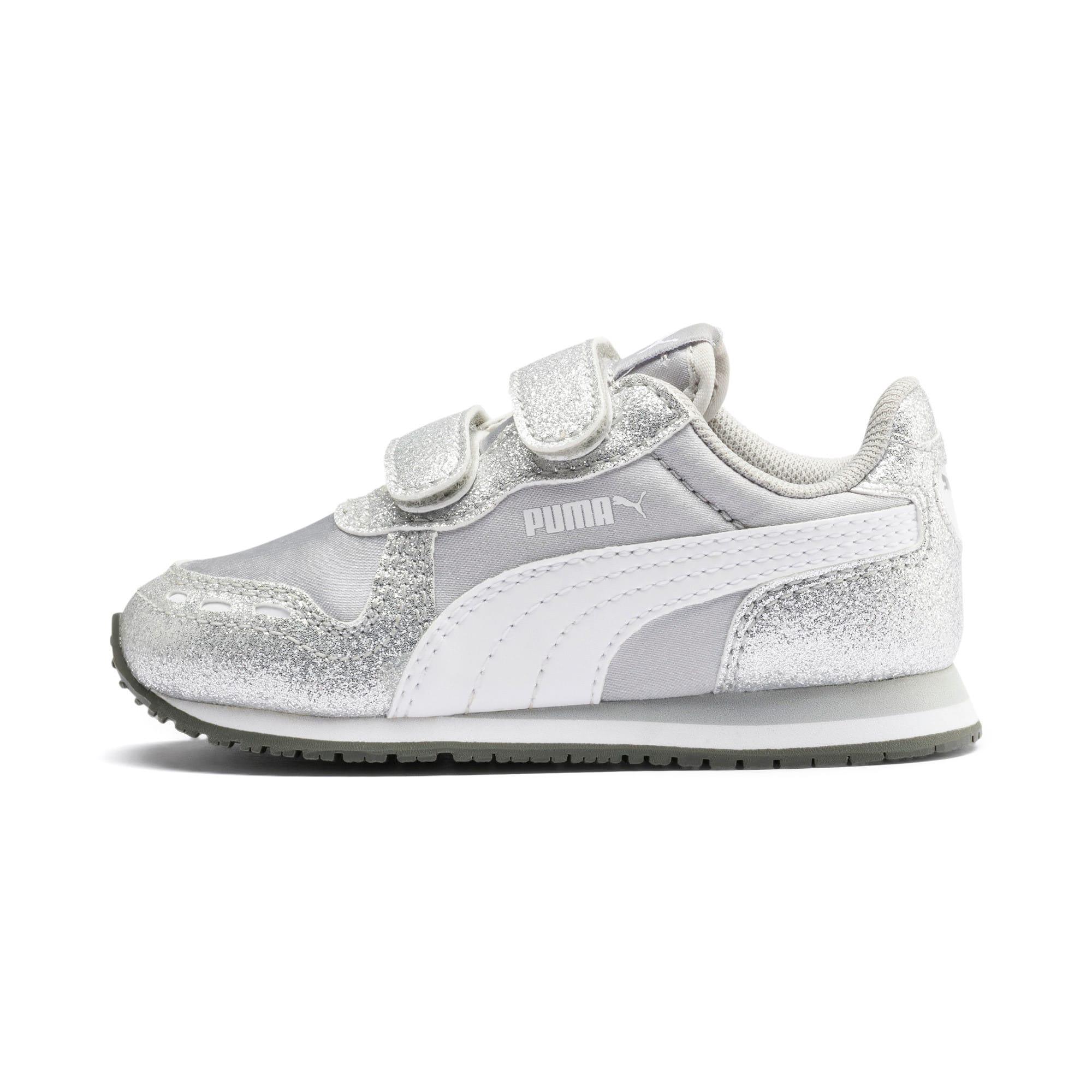 Thumbnail 1 of Cabana Racer Glitz AC Shoes INF, Puma Silver-Puma White, medium