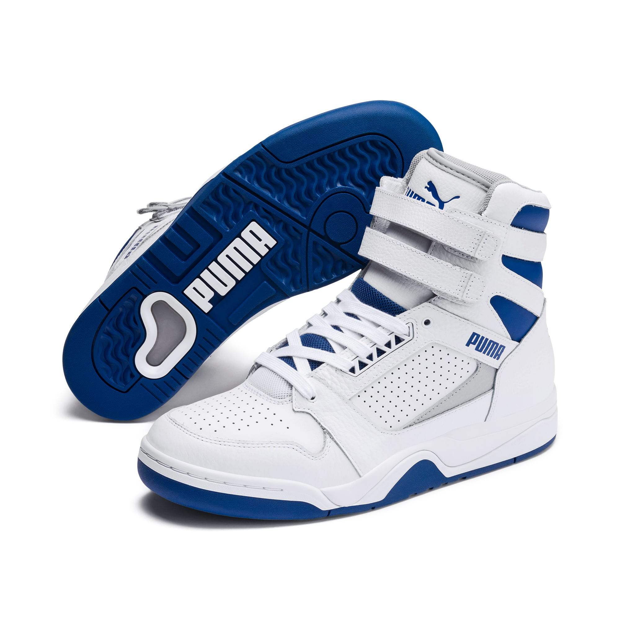 Thumbnail 3 of Palace Guard Mid Athletic Sneakers, P Wht-High Rise-Galaxy Blue, medium