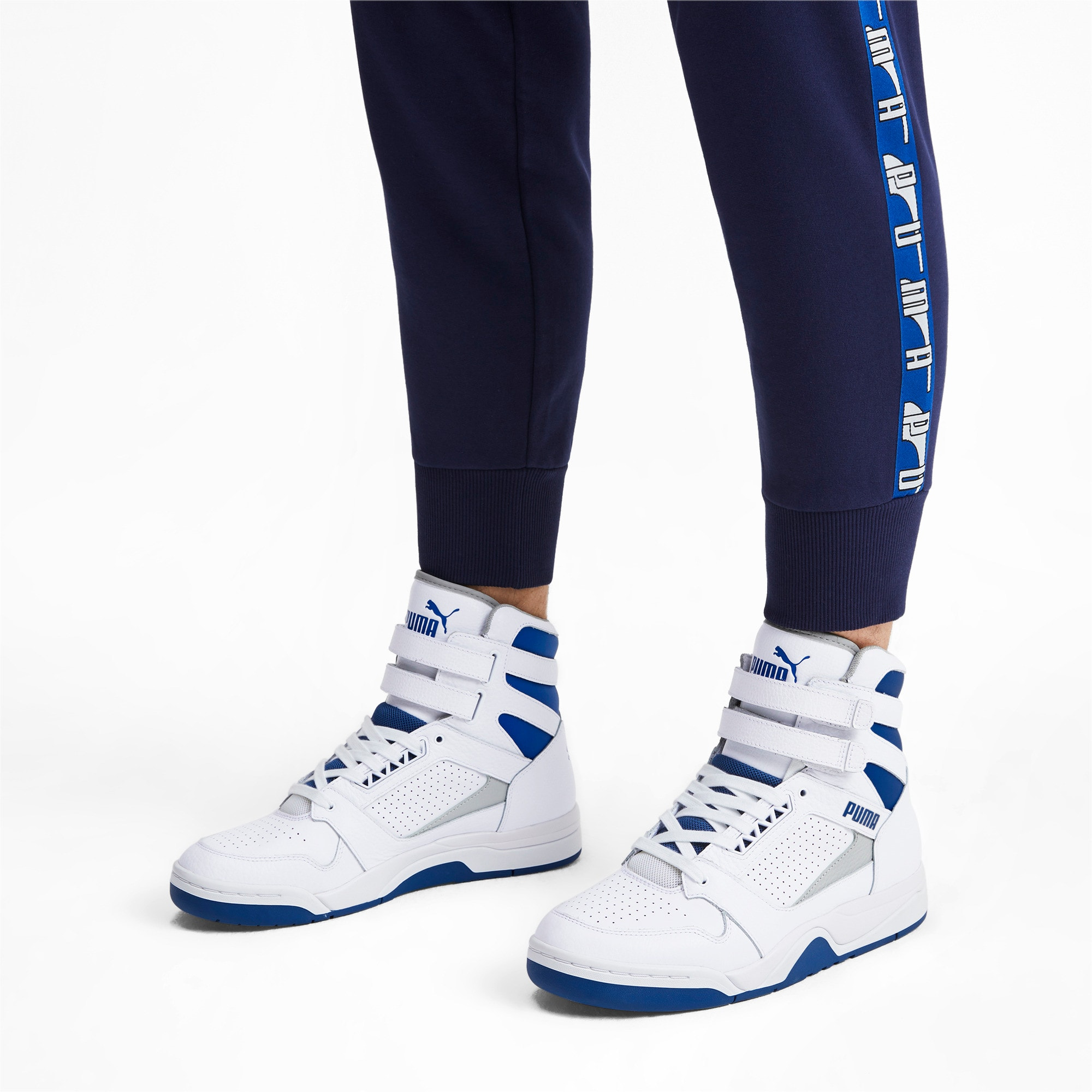 Thumbnail 2 of Palace Guard Mid Athletic Sneakers, P Wht-High Rise-Galaxy Blue, medium