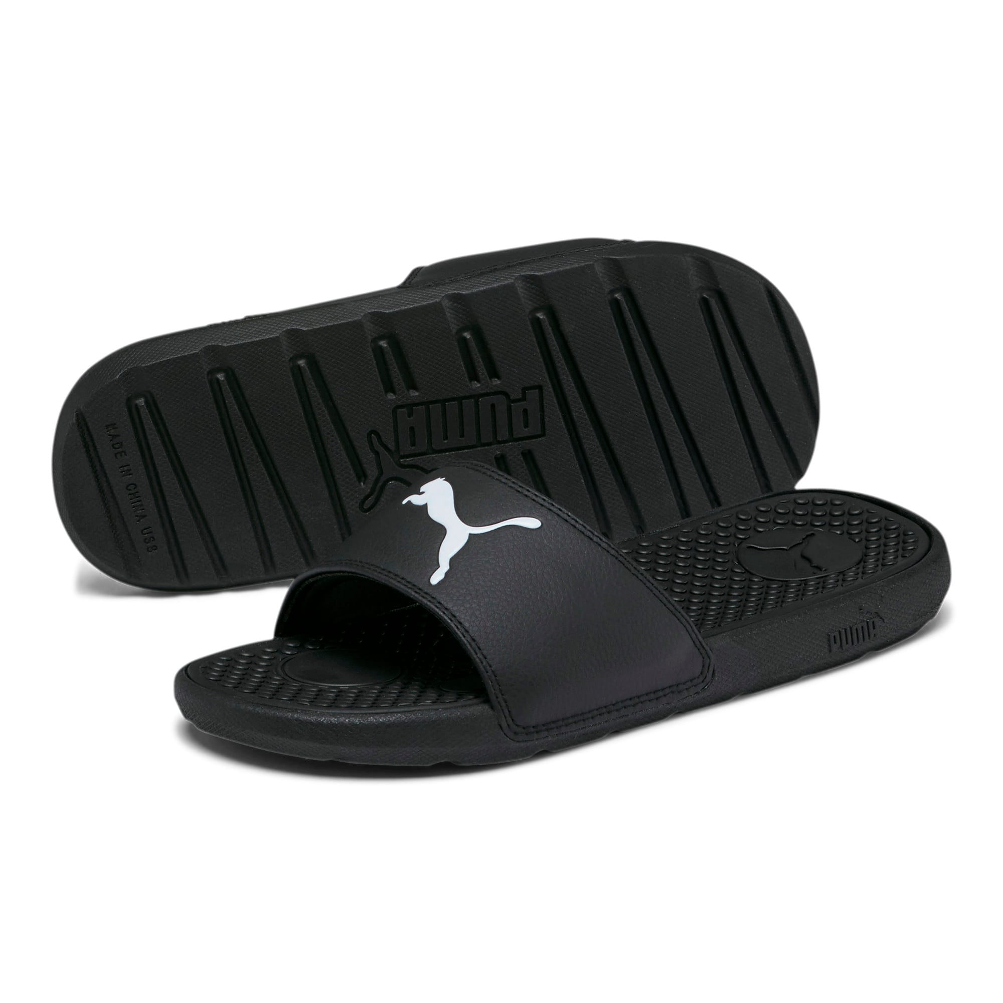 Thumbnail 2 of Cool Cat Sport Women's Slides, Puma Black-Puma White, medium