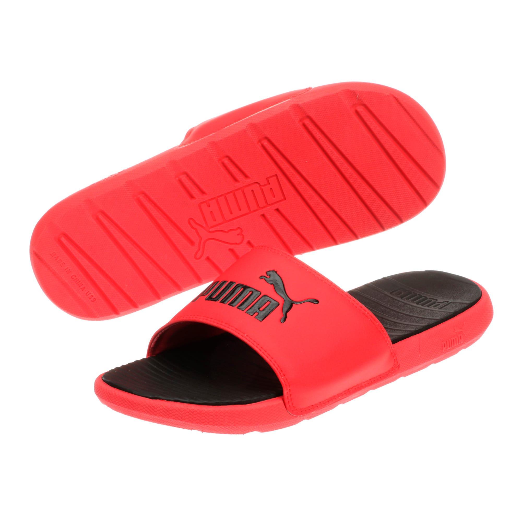 Thumbnail 2 of Cool Cat Men's Slides, High Risk Red-Puma Black, medium