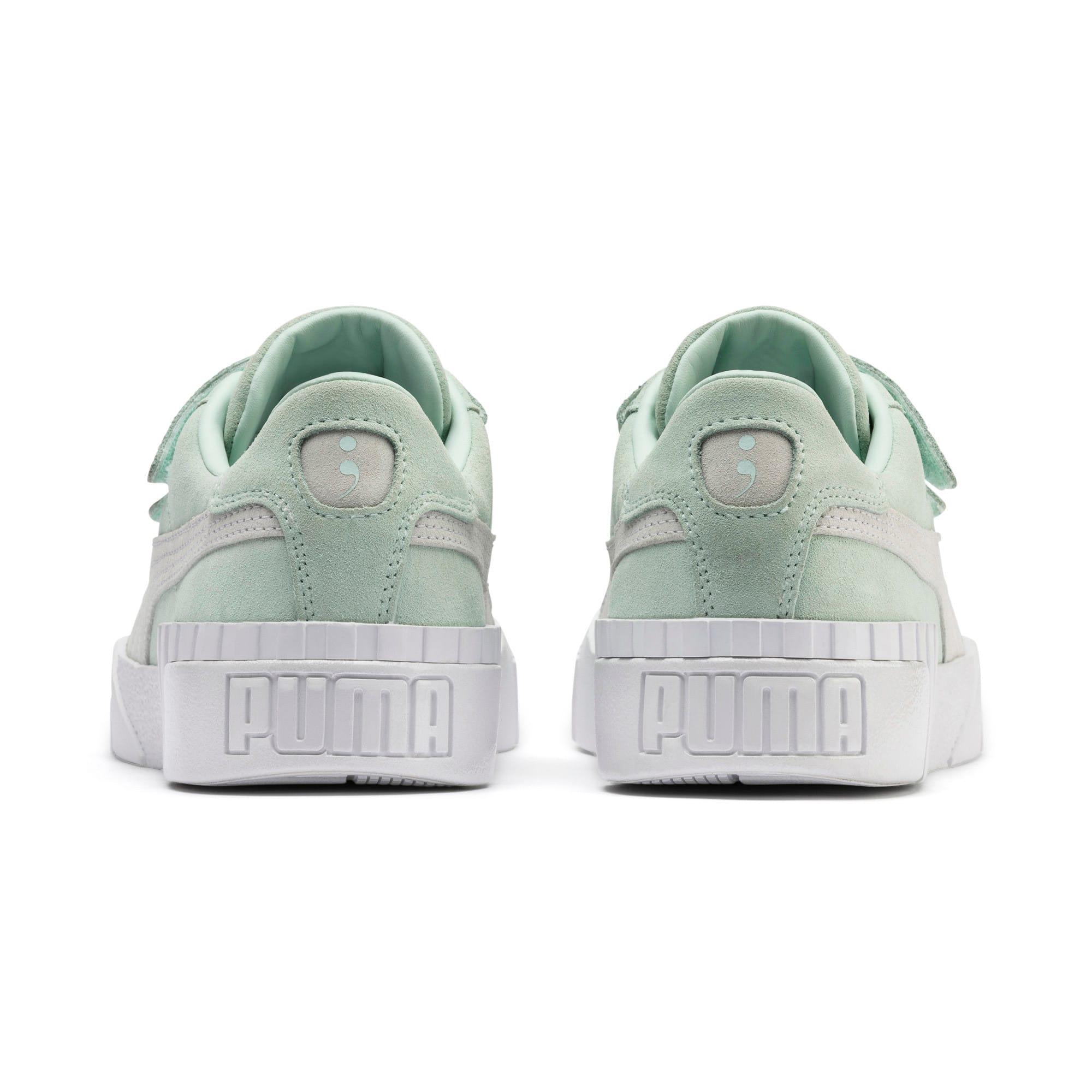 Thumbnail 4 of SG x Cali Suede Women's Sneakers, Fair Aqua-Puma White, medium