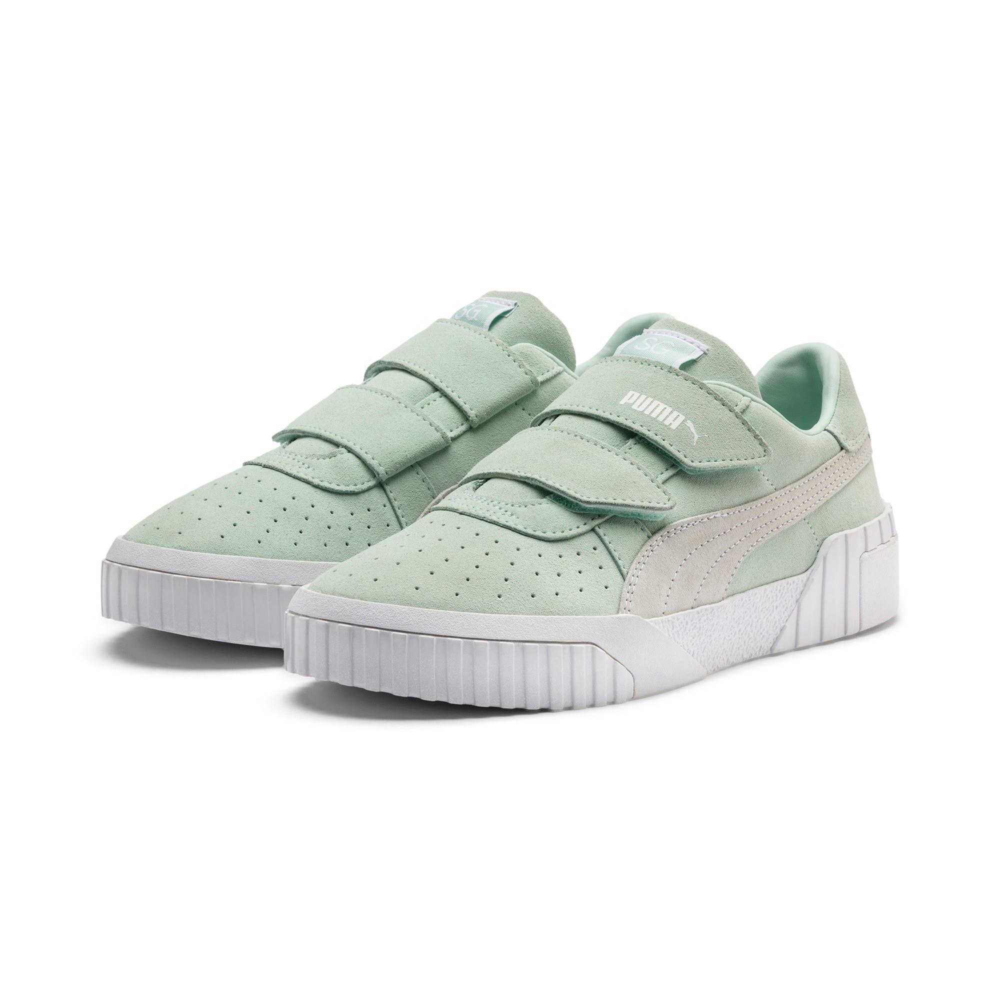 Thumbnail 3 of SG x Cali Suede Women's Sneakers, Fair Aqua-Puma White, medium