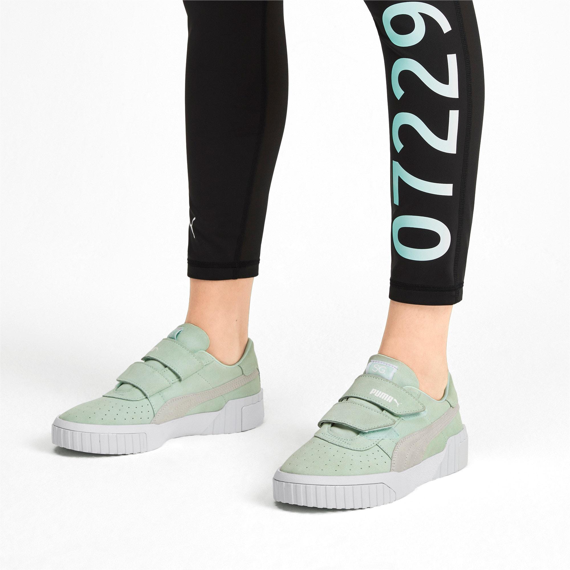 Thumbnail 2 of SG x Cali Suede Women's Sneakers, Fair Aqua-Puma White, medium