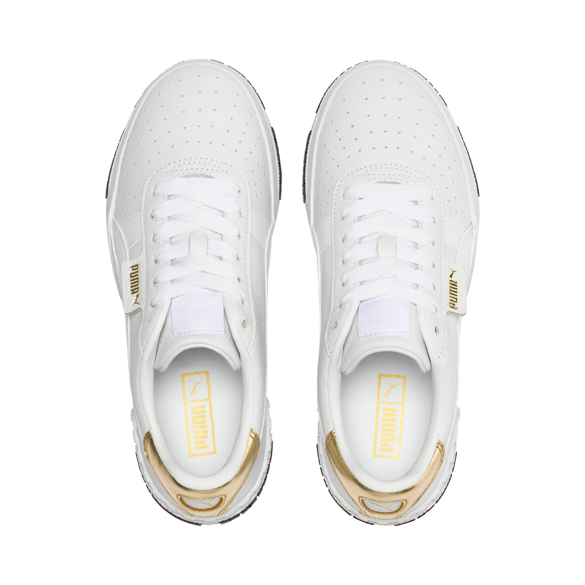 Thumbnail 6 van Cali Bold Metallic sportschoenen voor dames, Puma White-Gold, medium