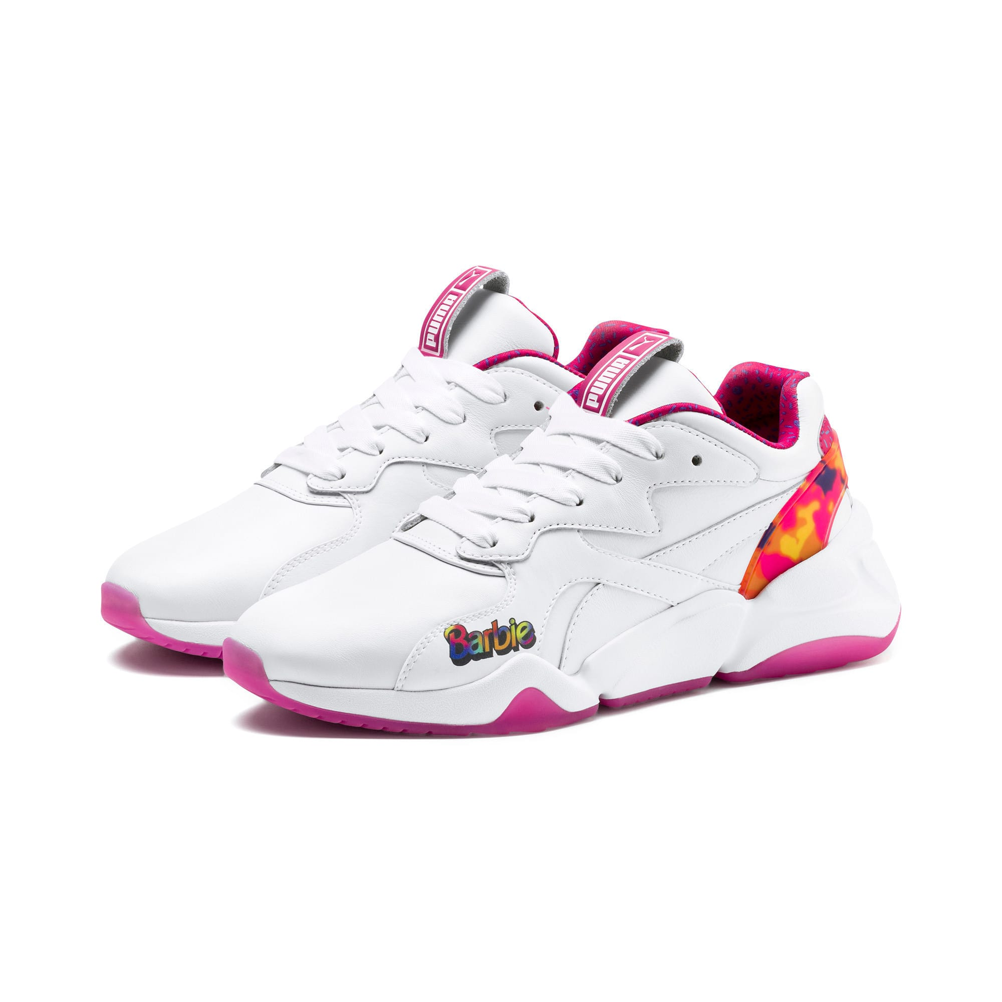 Thumbnail 2 of Nova x Barbie Flash Women's Sneakers, Puma White-CABARET, medium