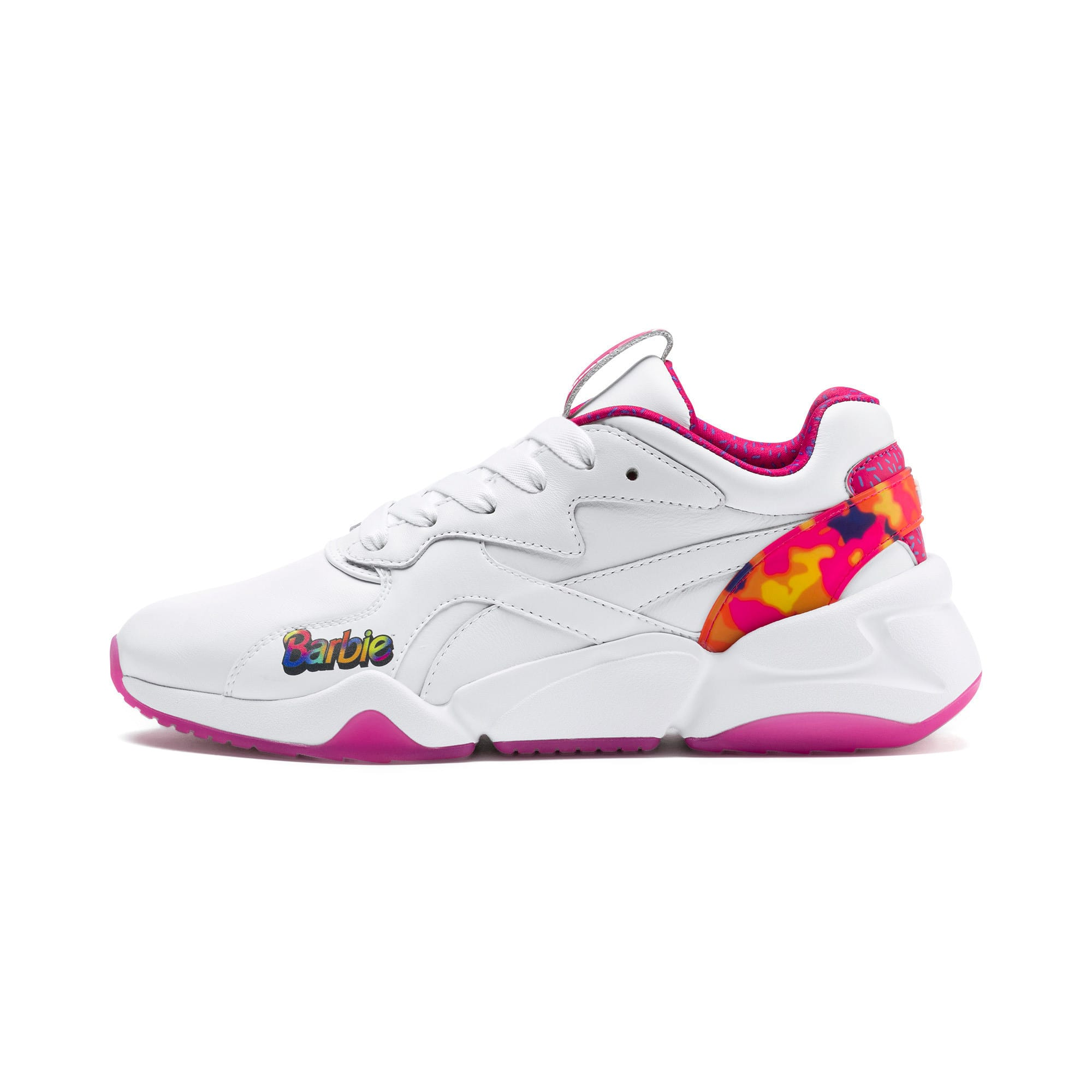 Thumbnail 1 of Nova x Barbie Flash Women's Sneakers, Puma White-CABARET, medium