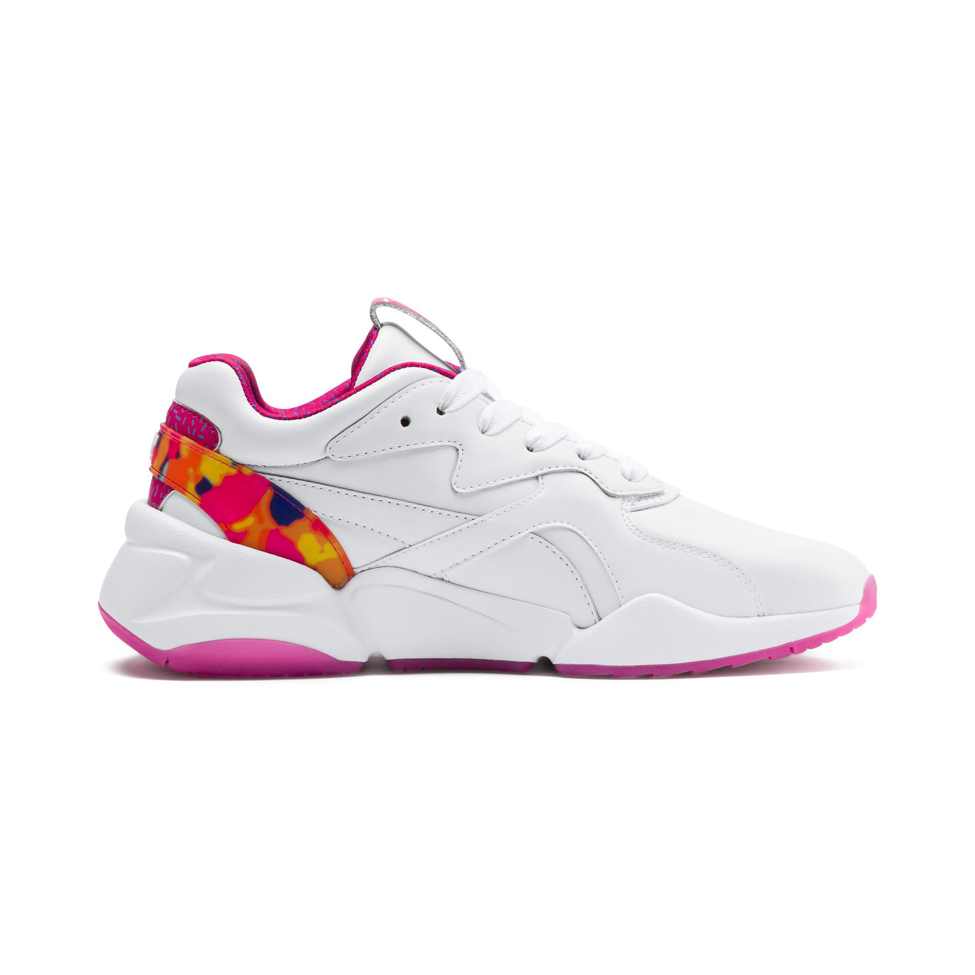 Thumbnail 5 of Nova x Barbie Flash Women's Sneakers, Puma White-CABARET, medium