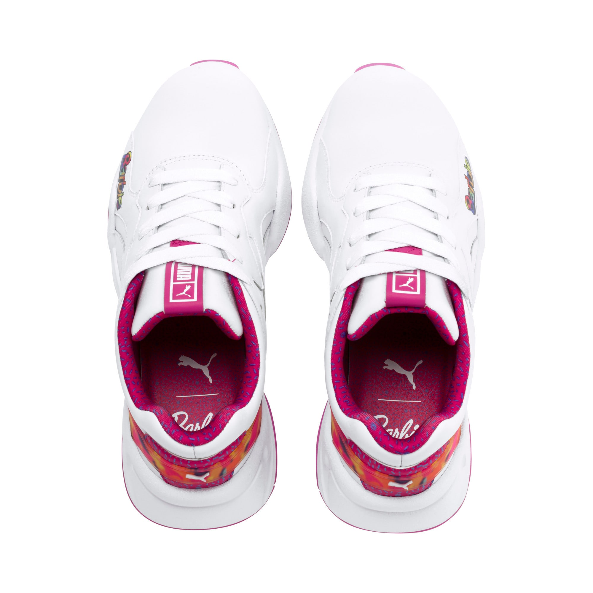 Thumbnail 6 of Nova x Barbie Flash Women's Sneakers, Puma White-CABARET, medium