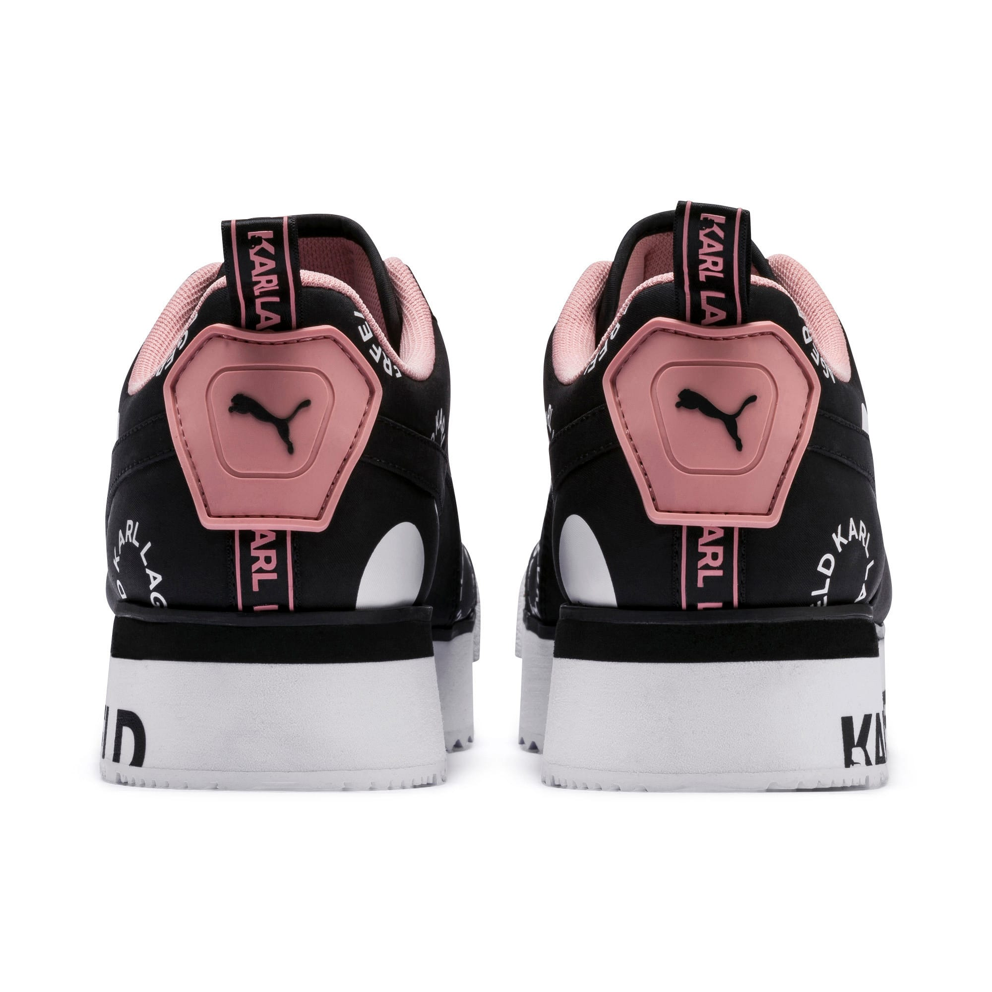Thumbnail 3 of PUMA x KARL LAGERFELD Roma Platform Women's Trainers, Puma Black-Puma white, medium