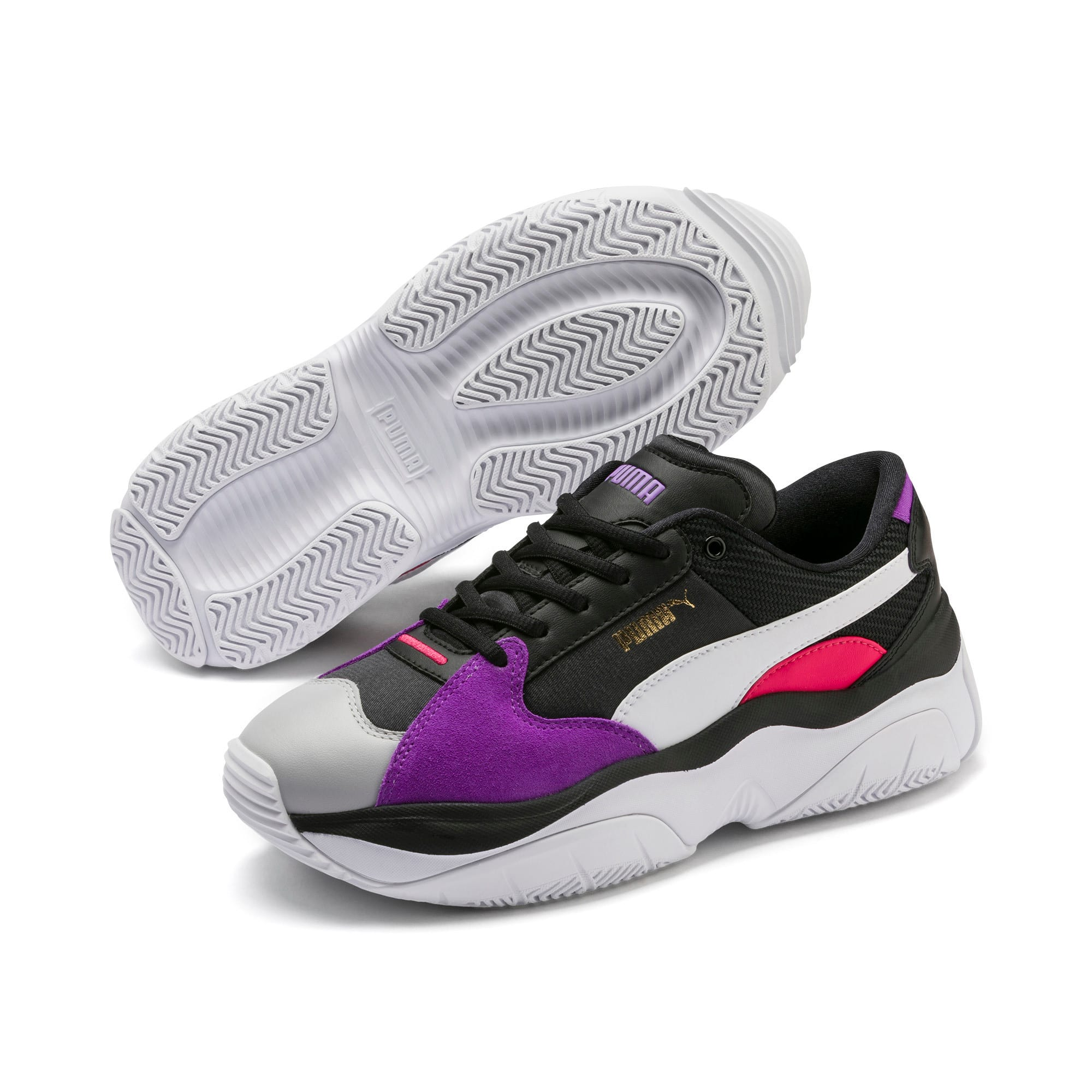 Thumbnail 3 of STORM.Y Damen Sneaker, Puma Black-Gray Violet, medium