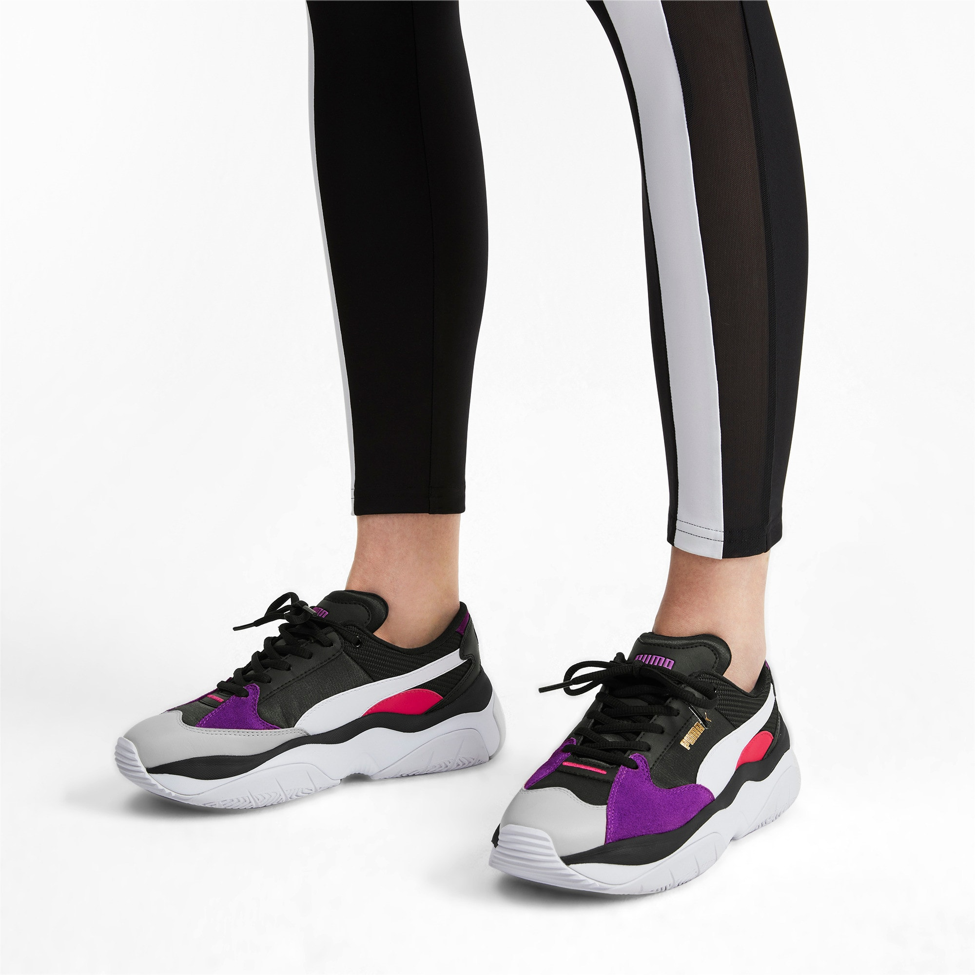 Thumbnail 2 of STORM.Y Damen Sneaker, Puma Black-Gray Violet, medium
