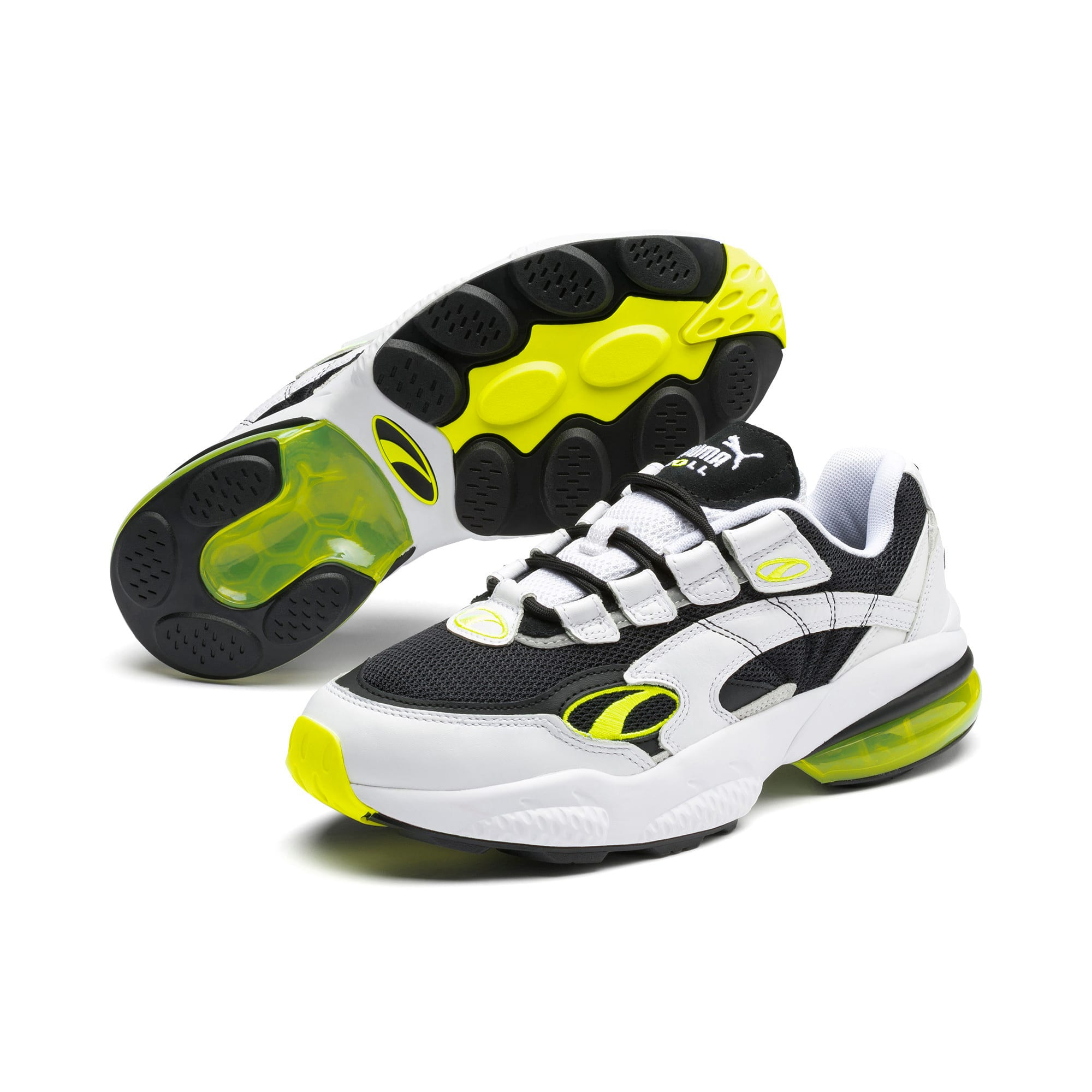 Thumbnail 7 of CELL Venom Hype Trainers, Pu Black-P White-Yell Alert, medium