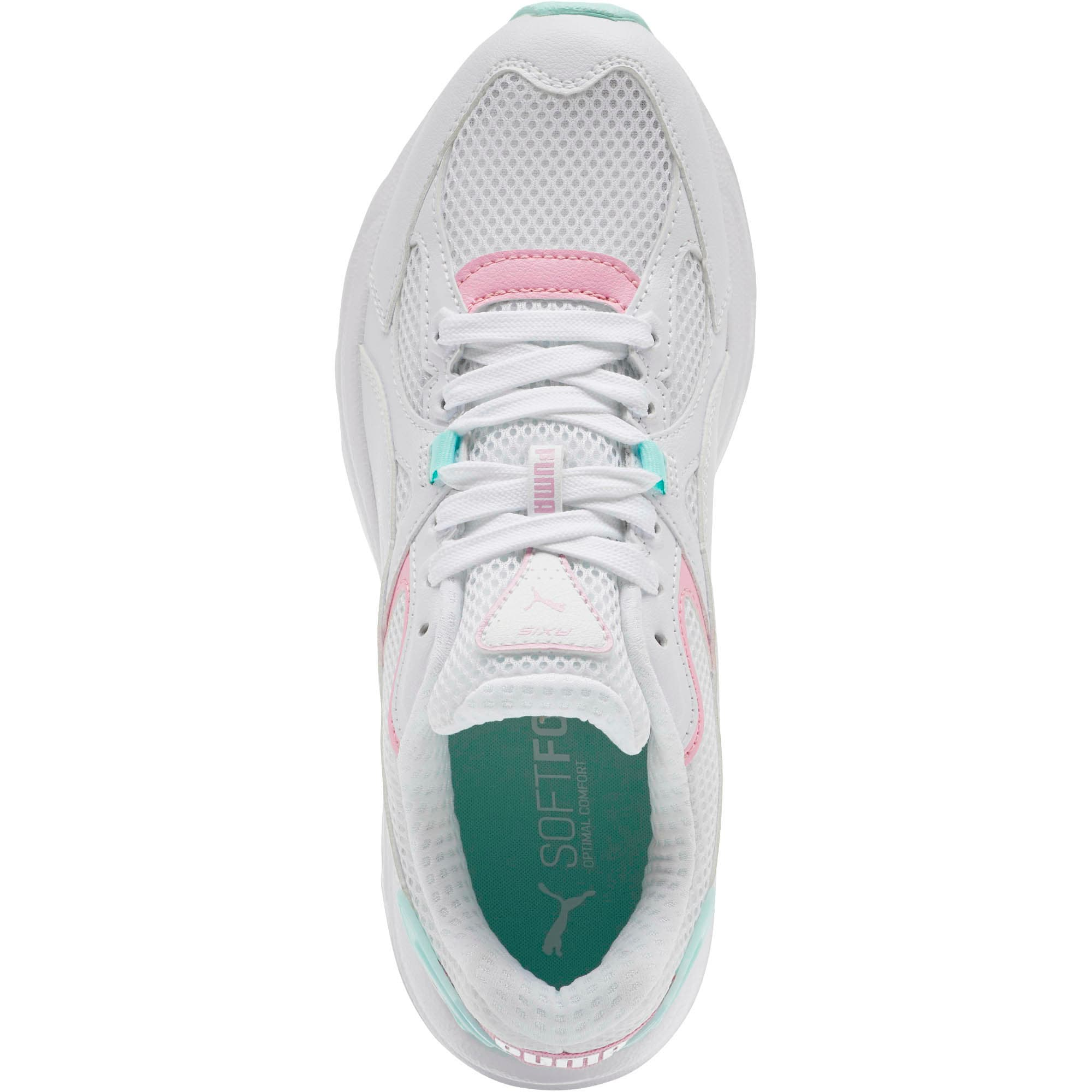 Axis Plus 90s Women's Sneakers, White-Pale Pink-Fair Aqua, large