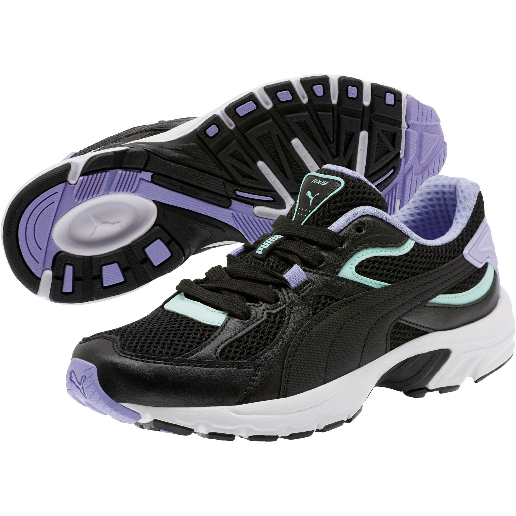 Thumbnail 2 of Axis Plus 90s Women's Sneakers, Black-F Aqua-S Lavender-Wht, medium
