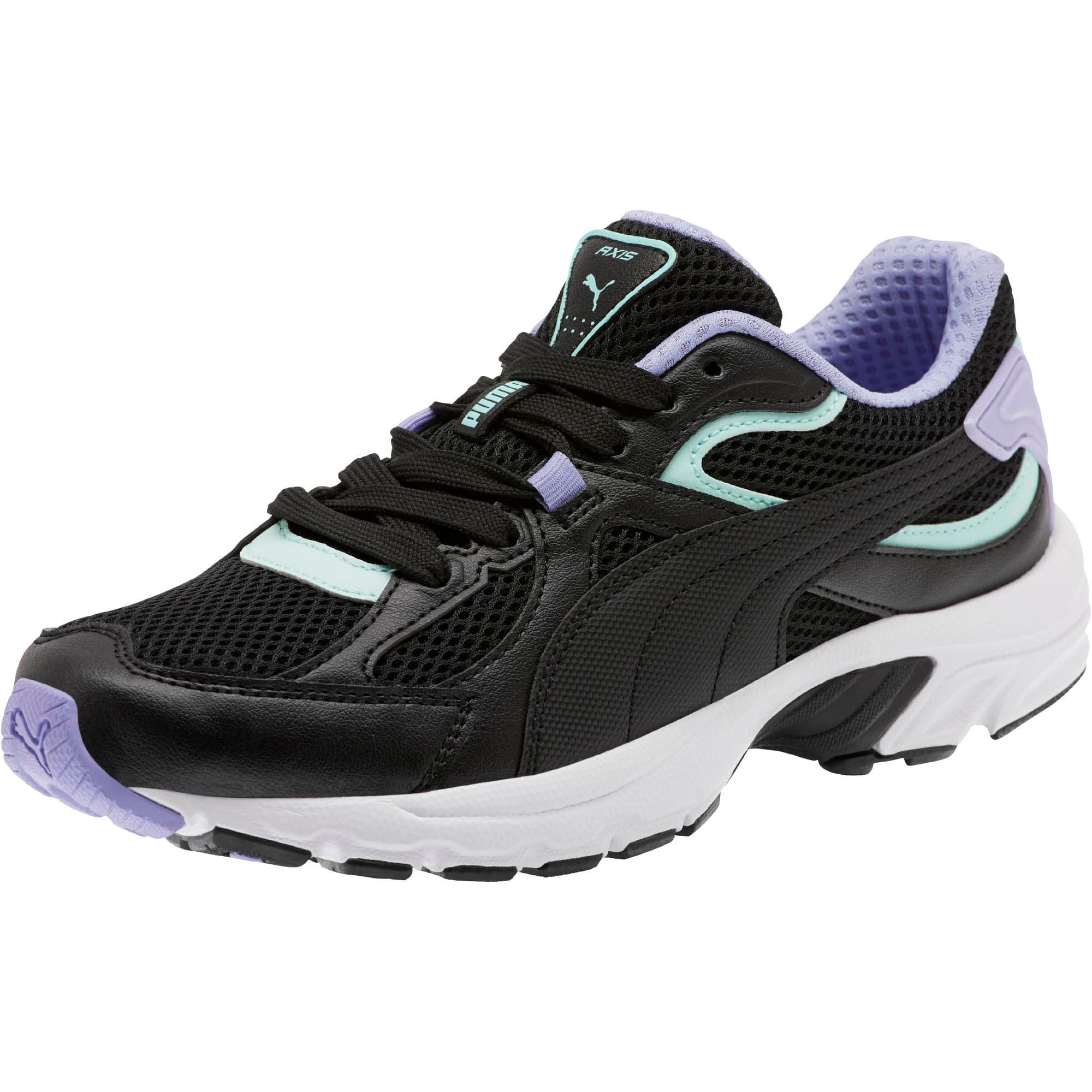 Thumbnail 1 of Axis Plus 90s Women's Sneakers, Black-F Aqua-S Lavender-Wht, medium