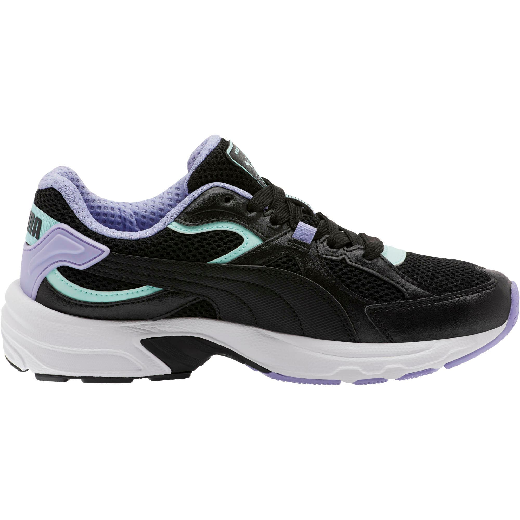 Thumbnail 4 of Axis Plus 90s Women's Sneakers, Black-F Aqua-S Lavender-Wht, medium